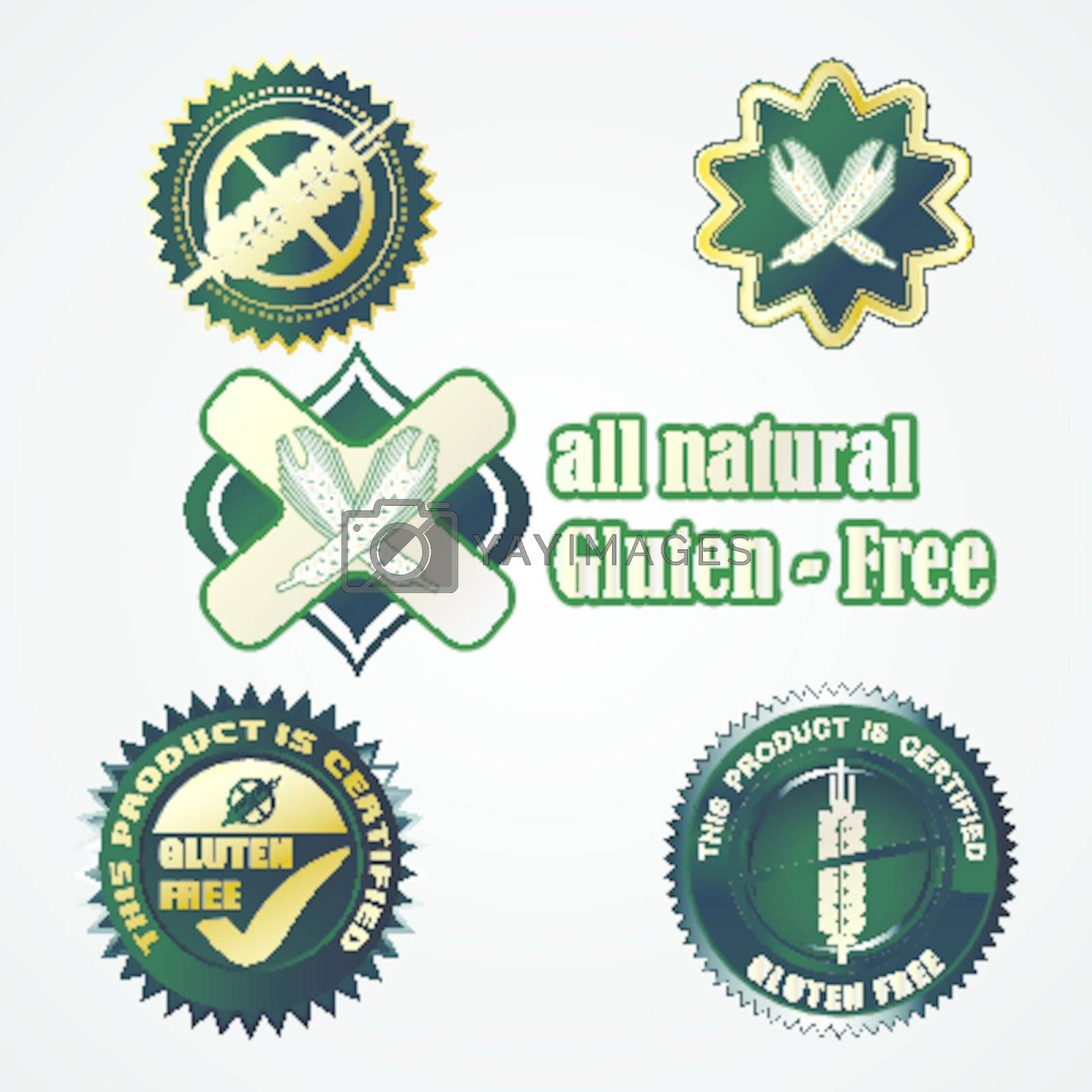 Gluten free food labels collection