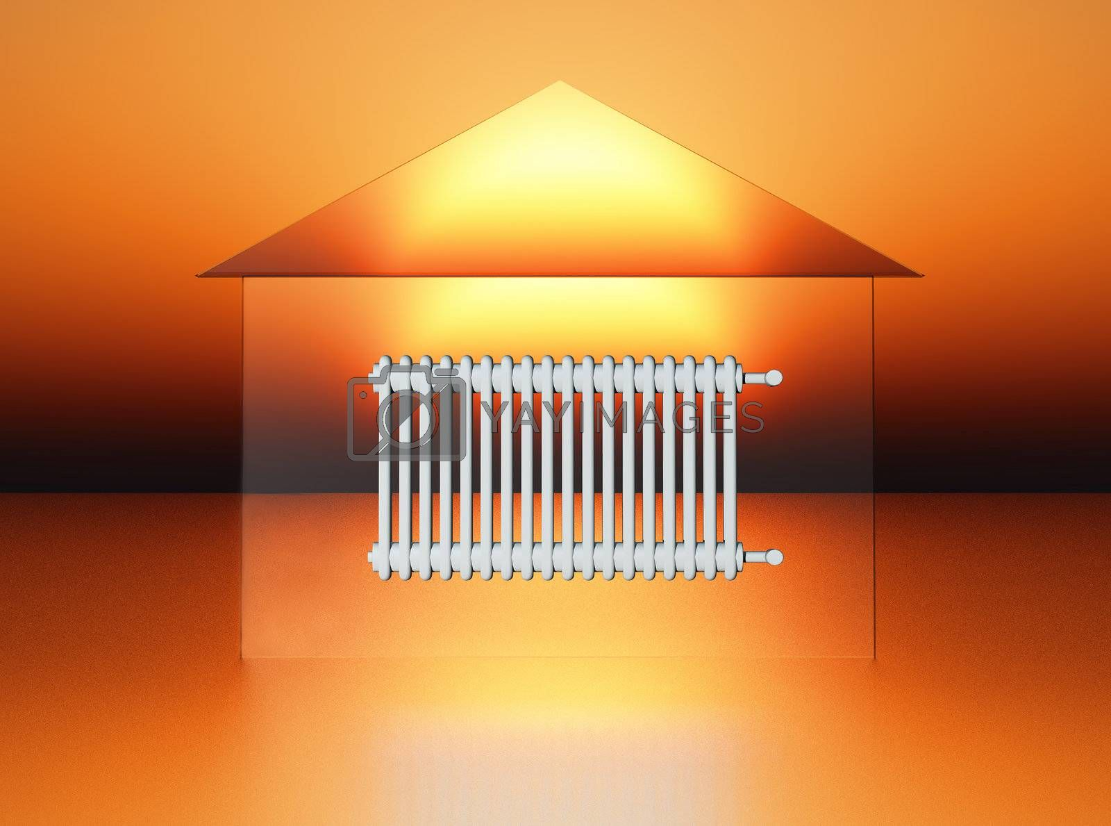 conceptual view of domestic heating