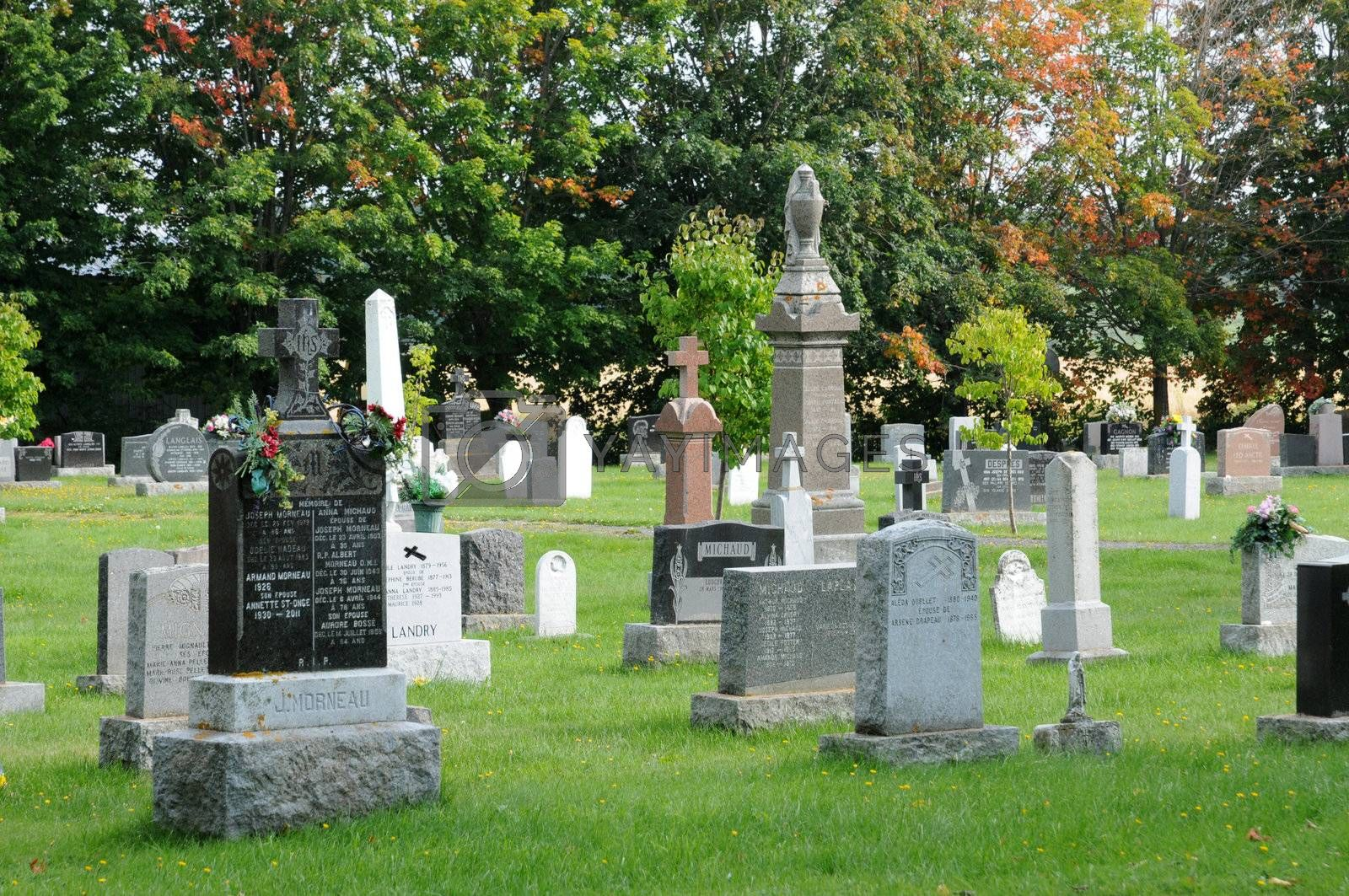 Canada, Quebec, the cemetery of Kamouraska