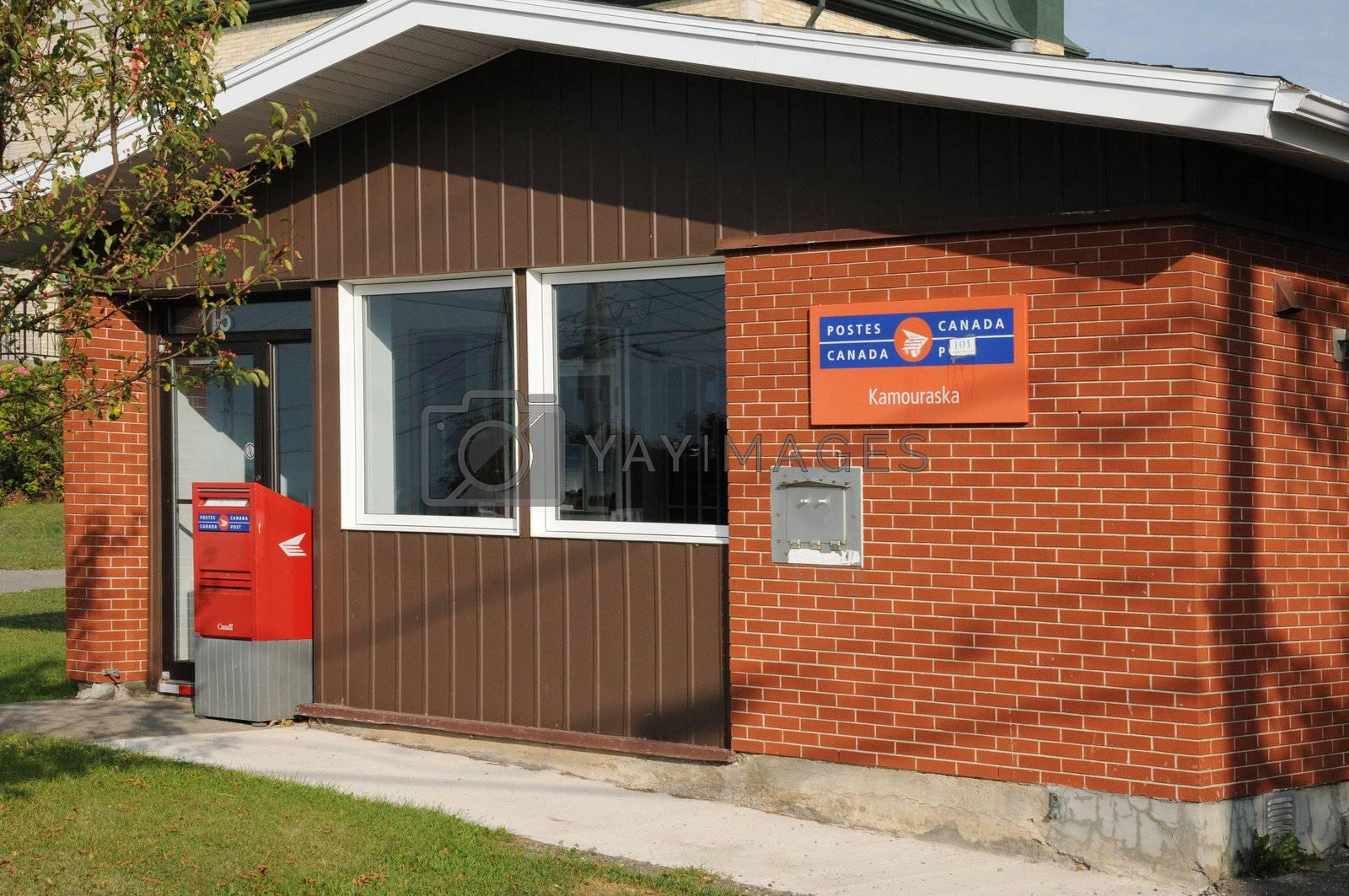 Canada, Quebec, the post office of Kamouraska