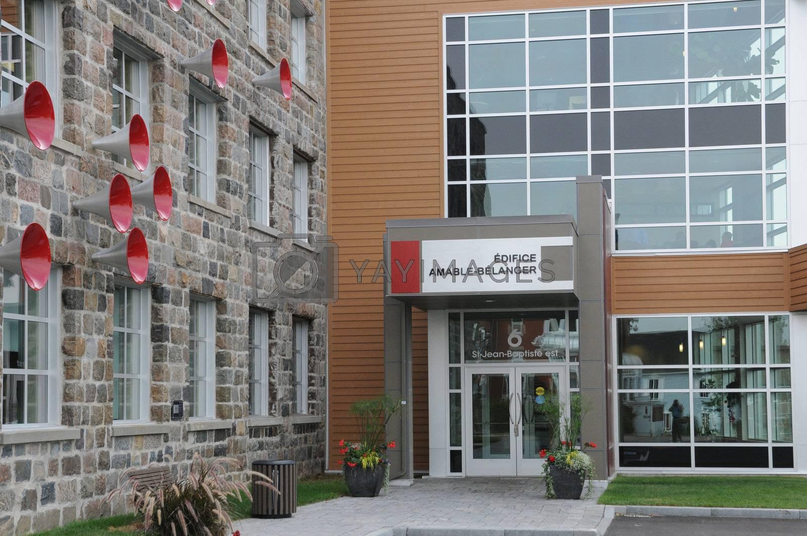 Canada; Quebec, Amable Belanger building in Montmagny