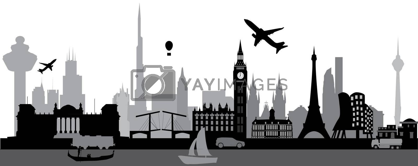 travel the world skyline