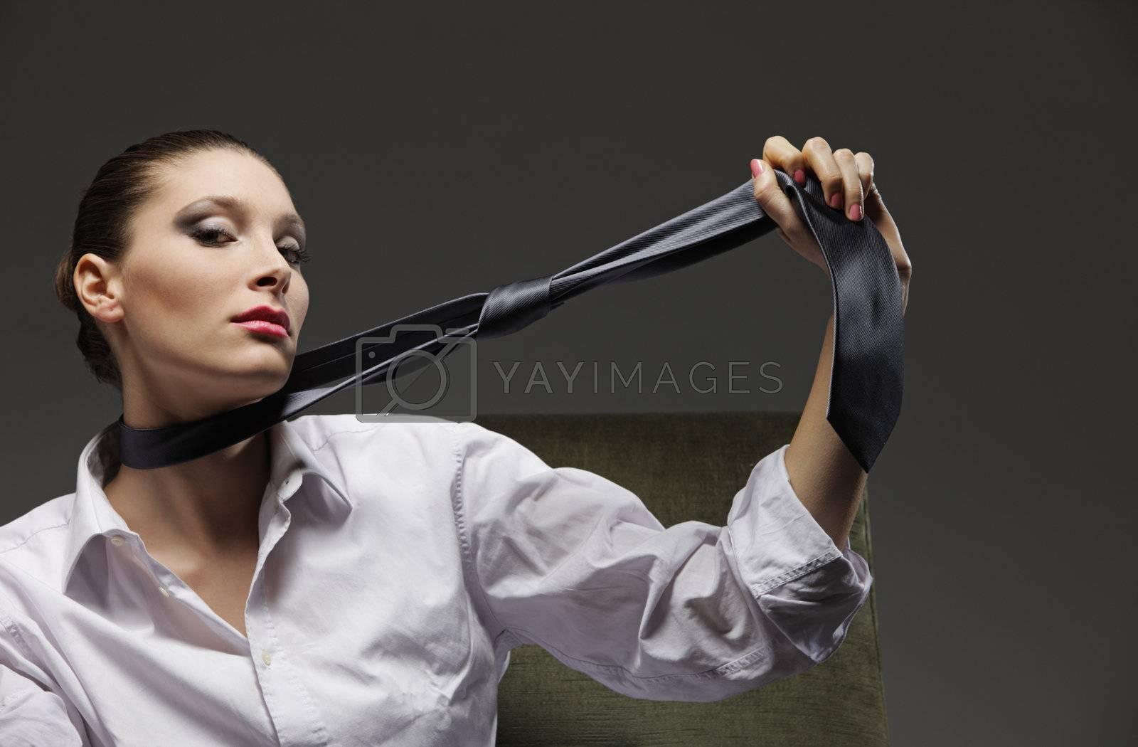 Portrait of fashion model by stokkete