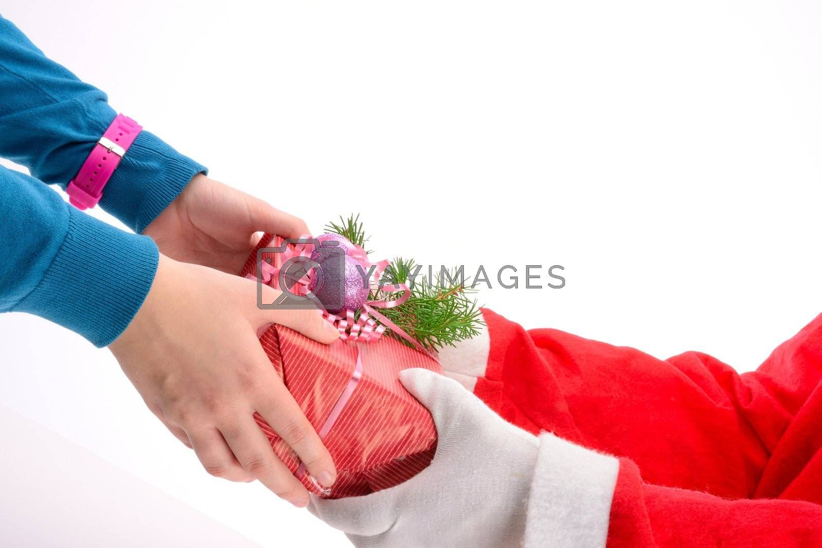 handing out of presents