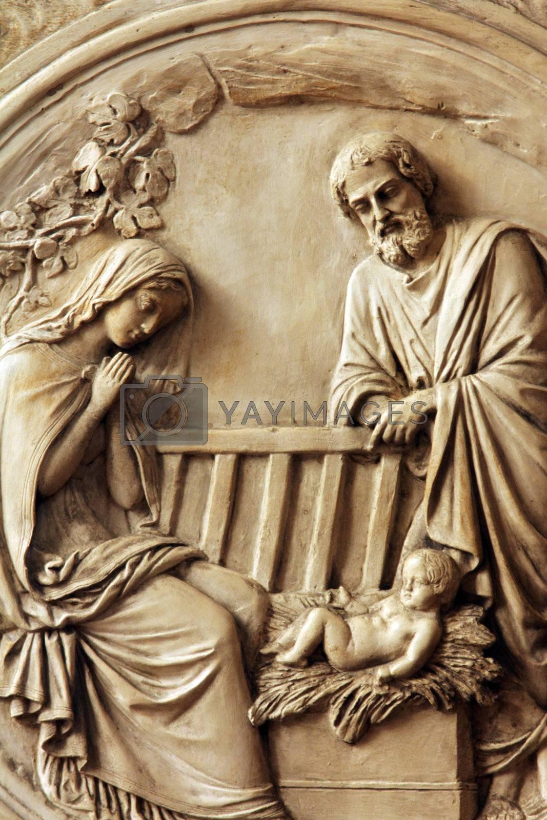 Nativity Scene , Saint Etienne du Mont Church, Paris.