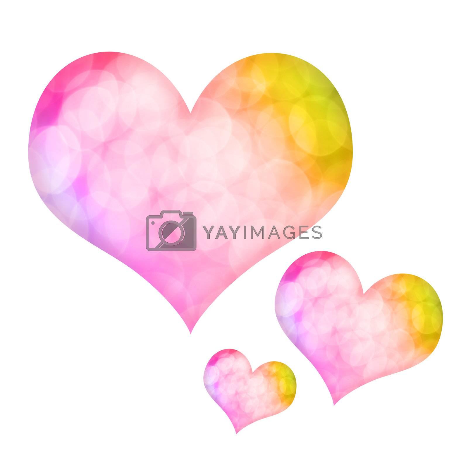 Valentine heart shape isolated on white background