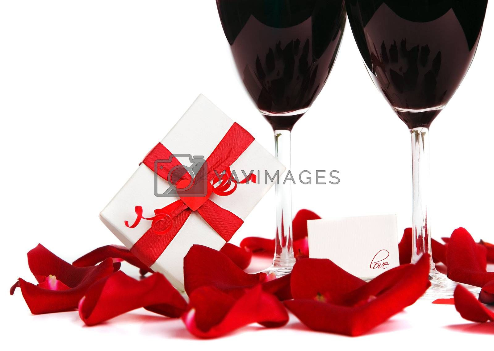Romantic holiday drink, celebration of valentine's day, love concept