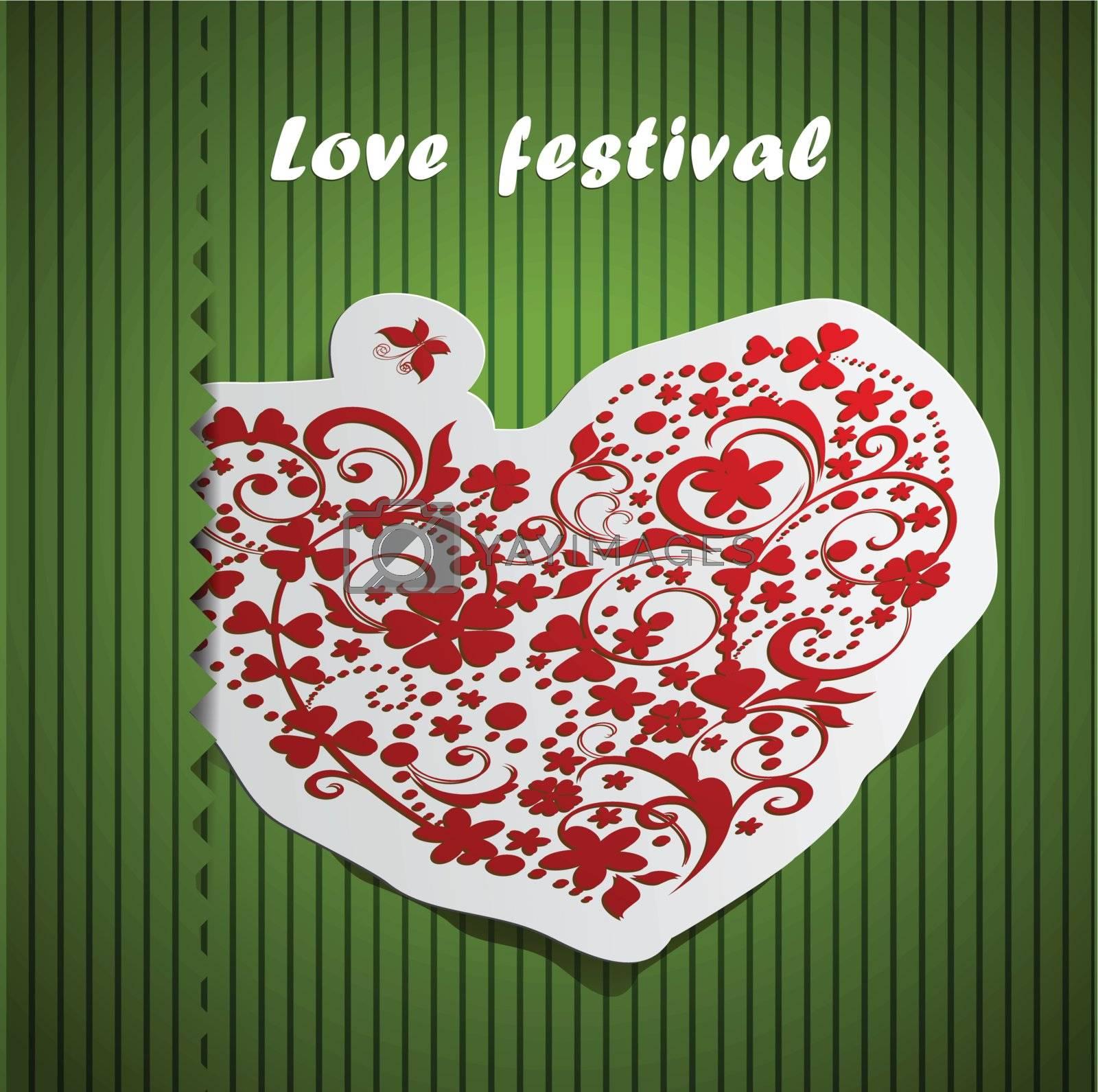 valentine day heart design card