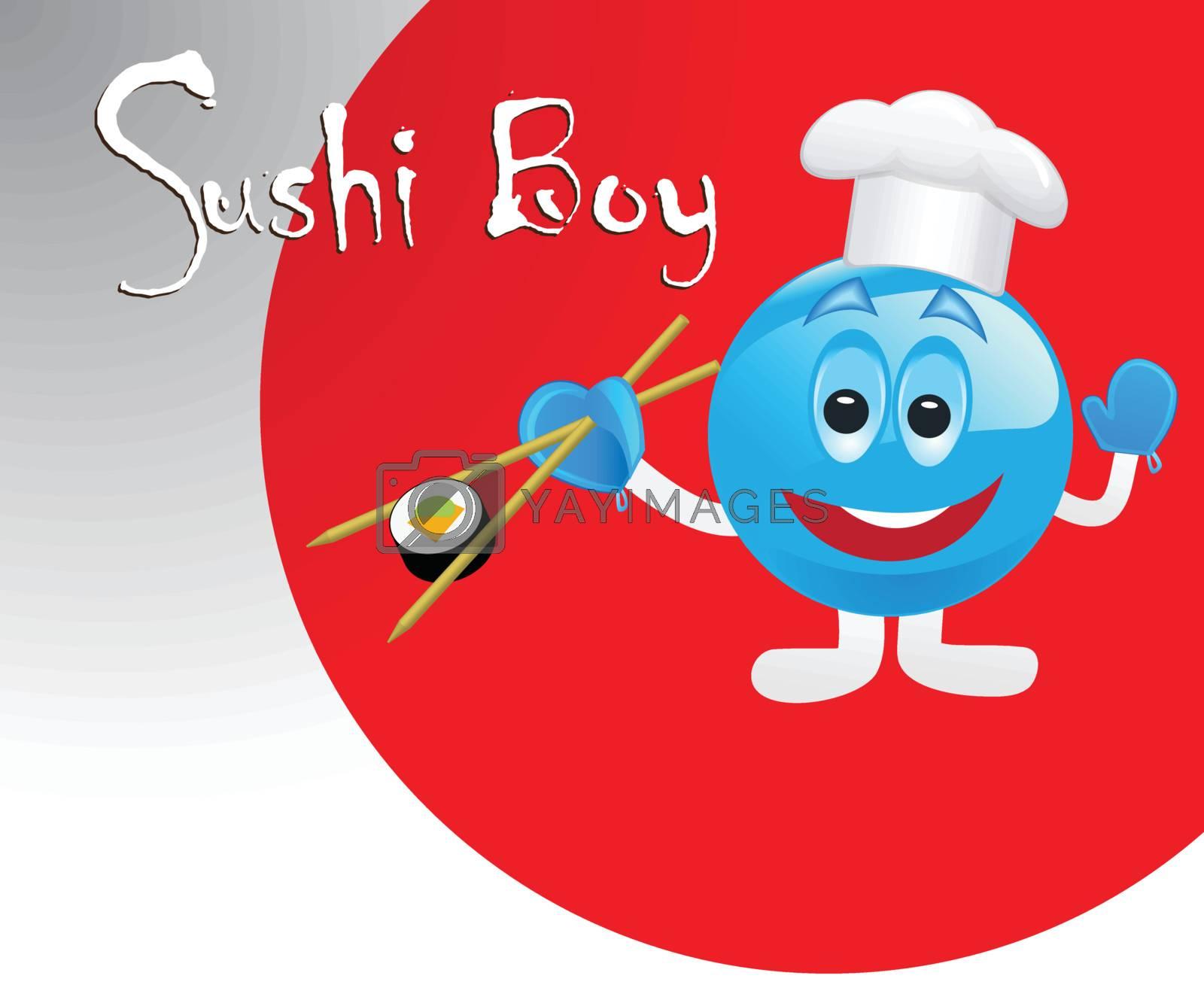 cute sushi boy