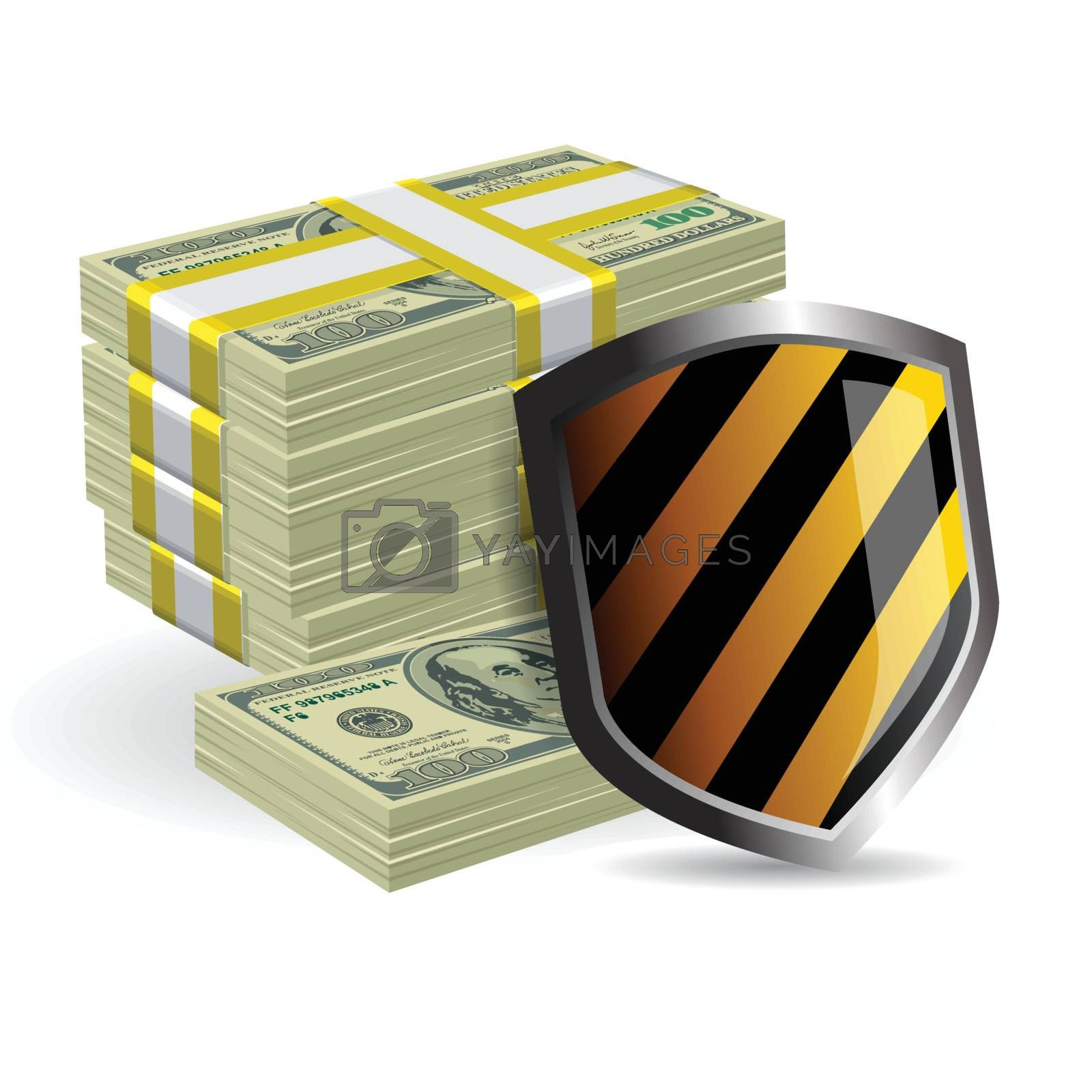 security shield protecting money business concept by nirots