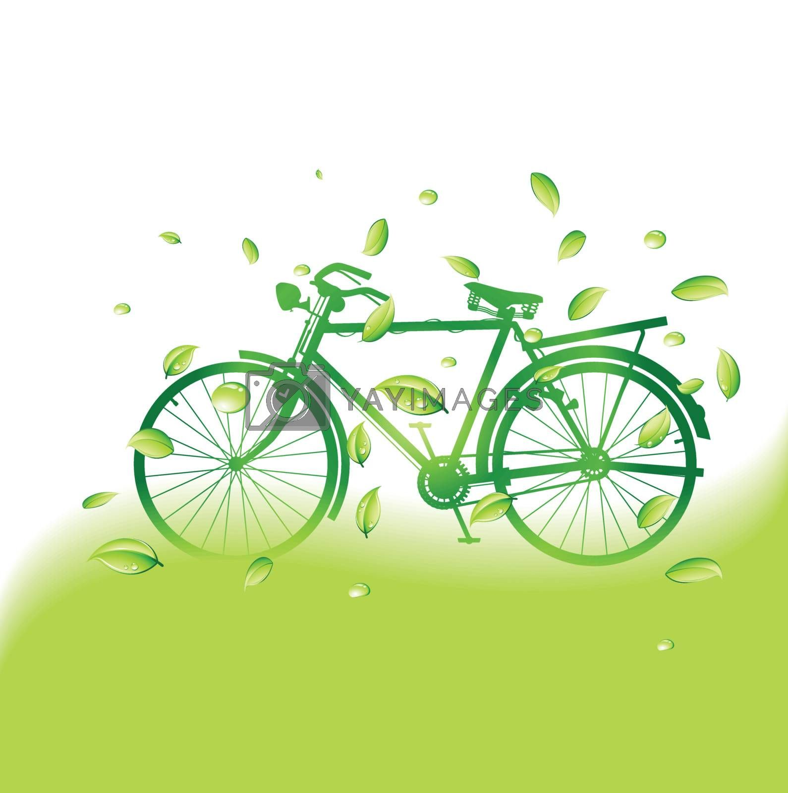 green bike with eco background by nirots