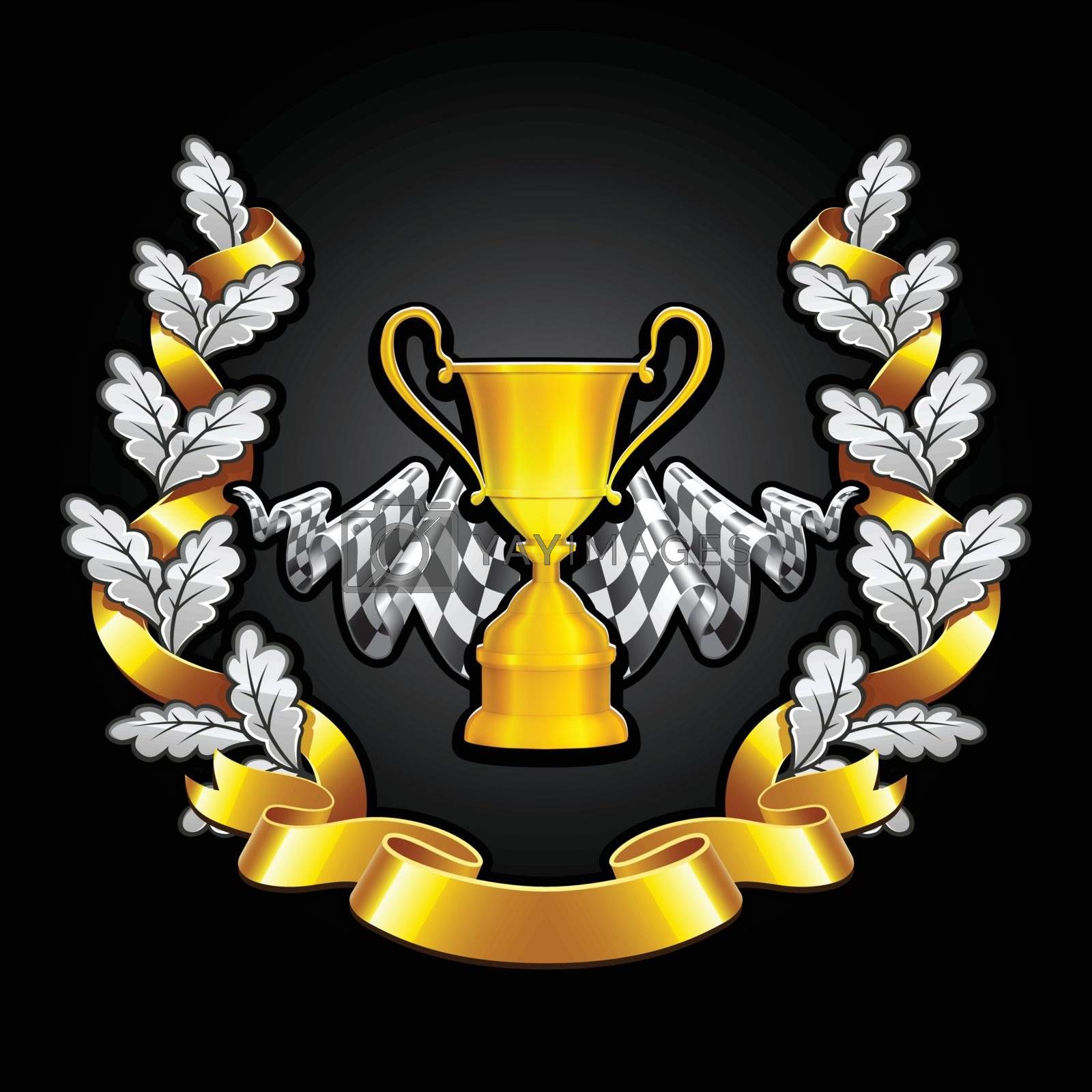 Royalty free image of Emblem Racing on black background by nirots