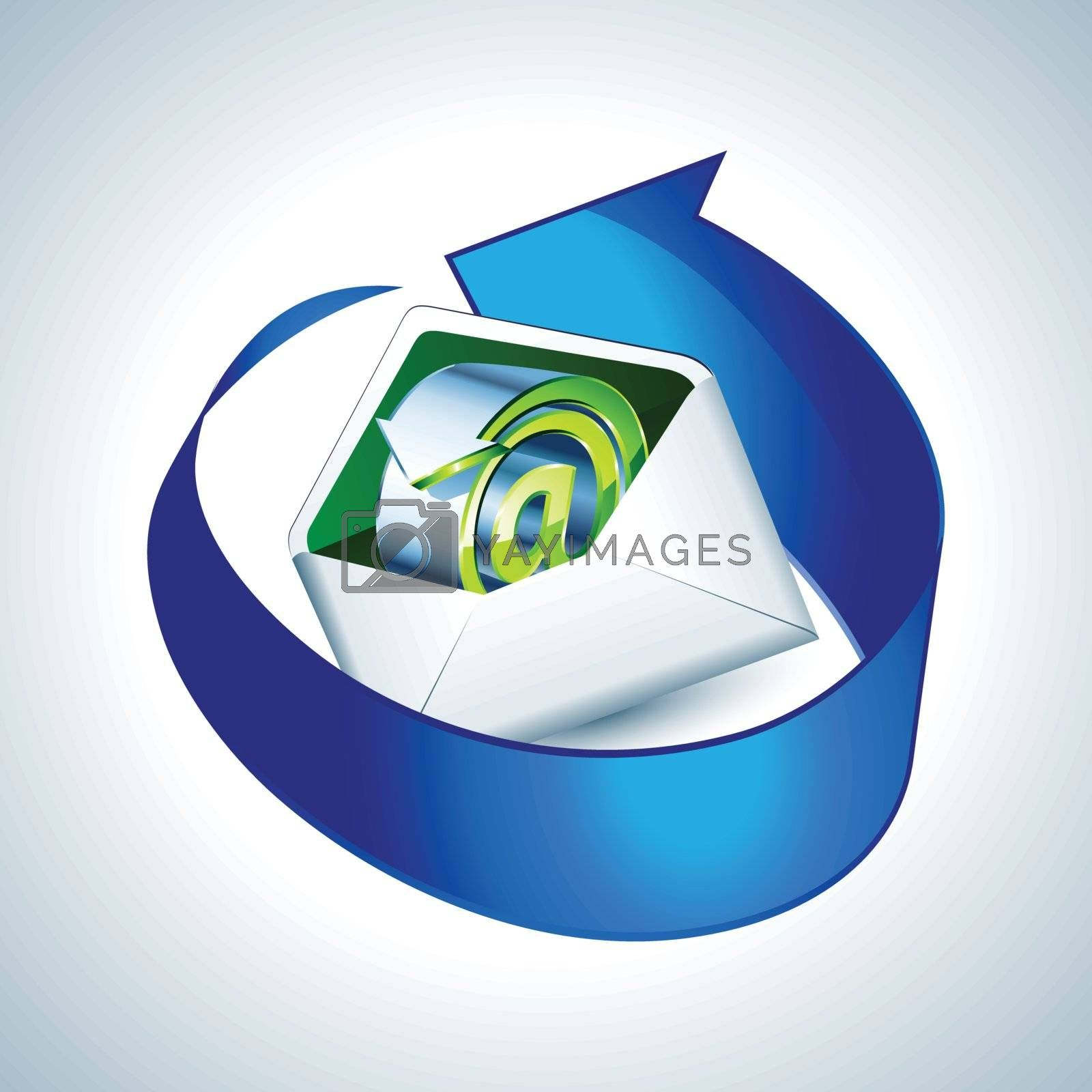 Royalty free image of E-mail icon with blue arrow by nirots