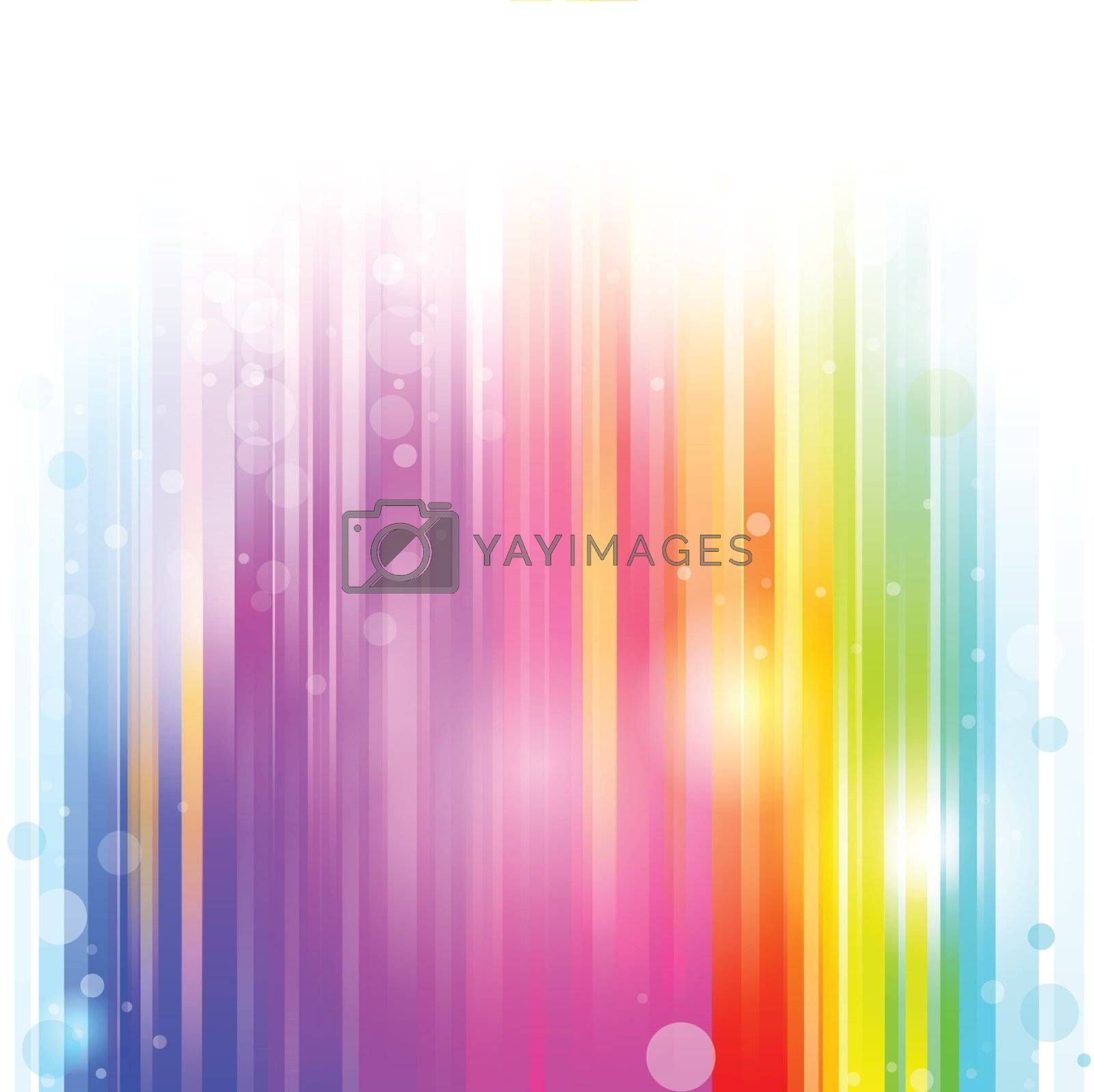 line Rainbow colorful background by nirots
