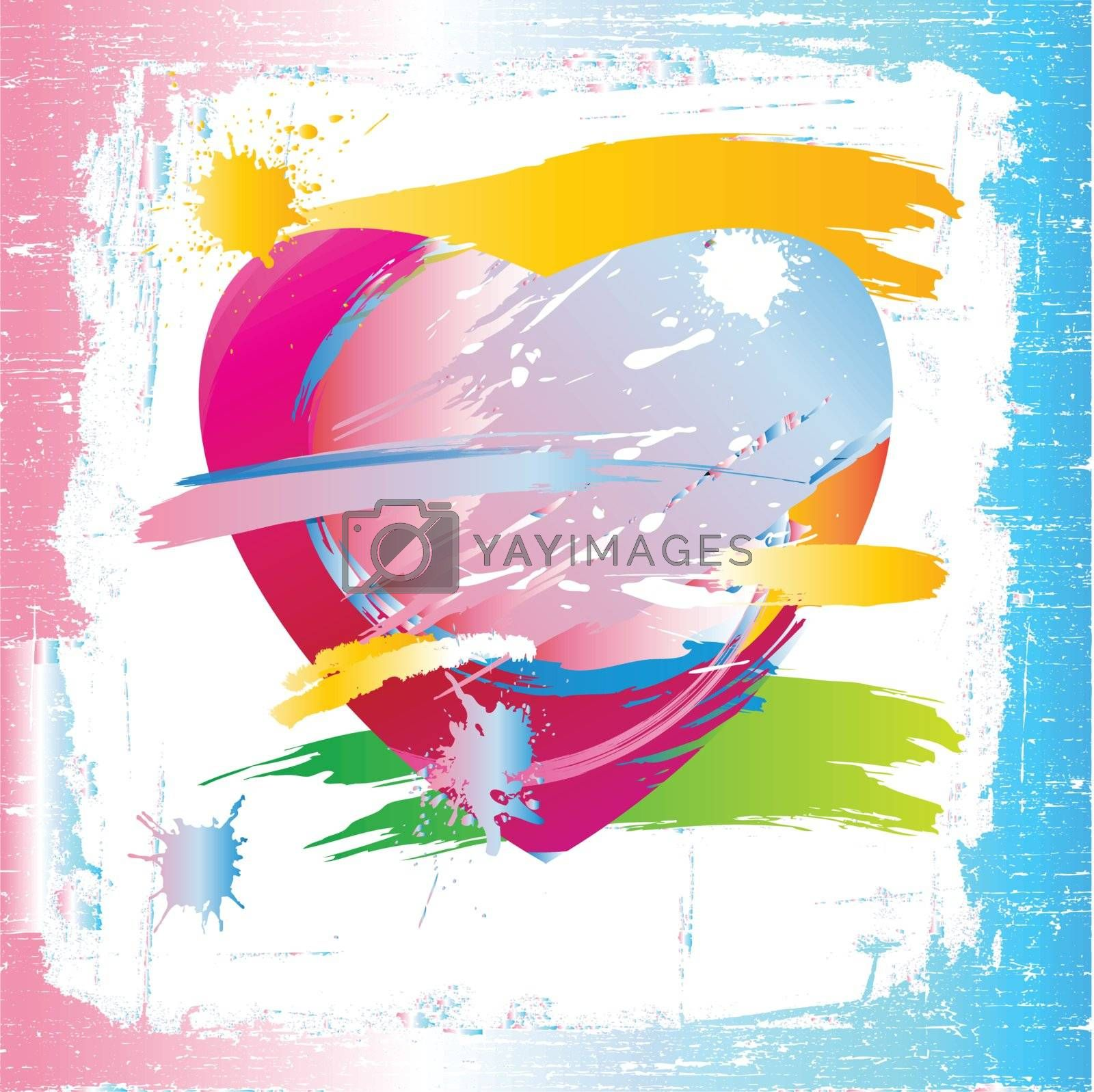 Colorful heart of the painting brush by nirots