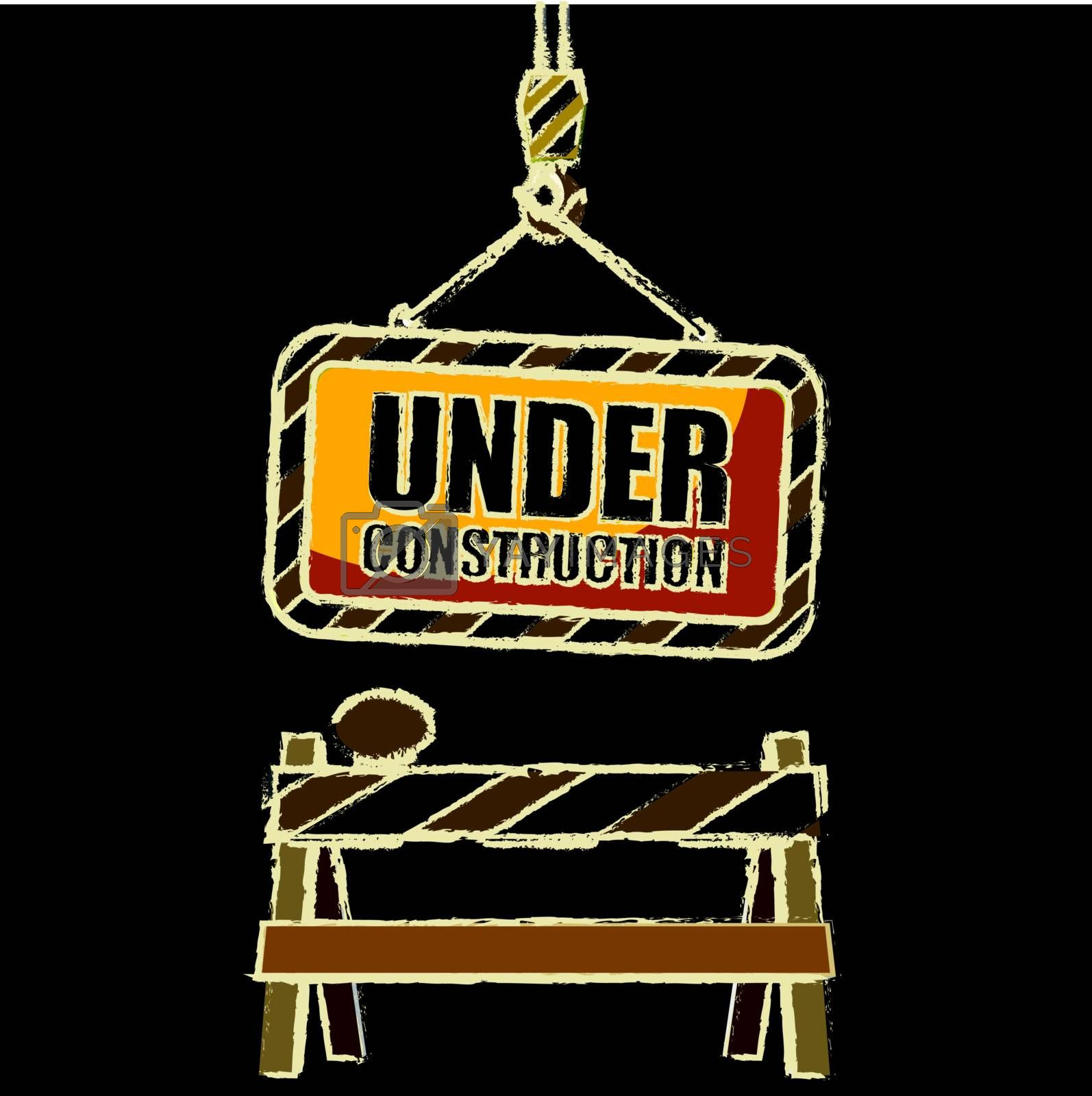 under construction with Grunge