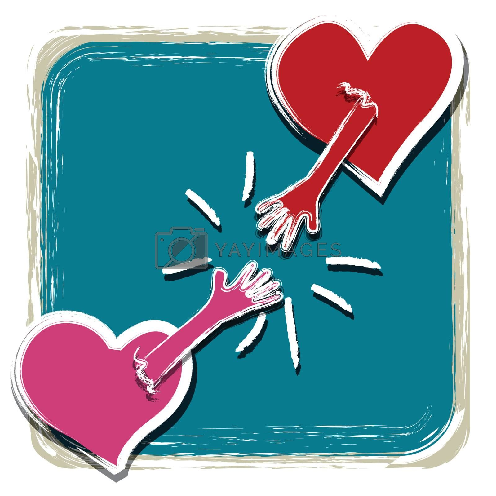 Heart with a hand catch together by nirots