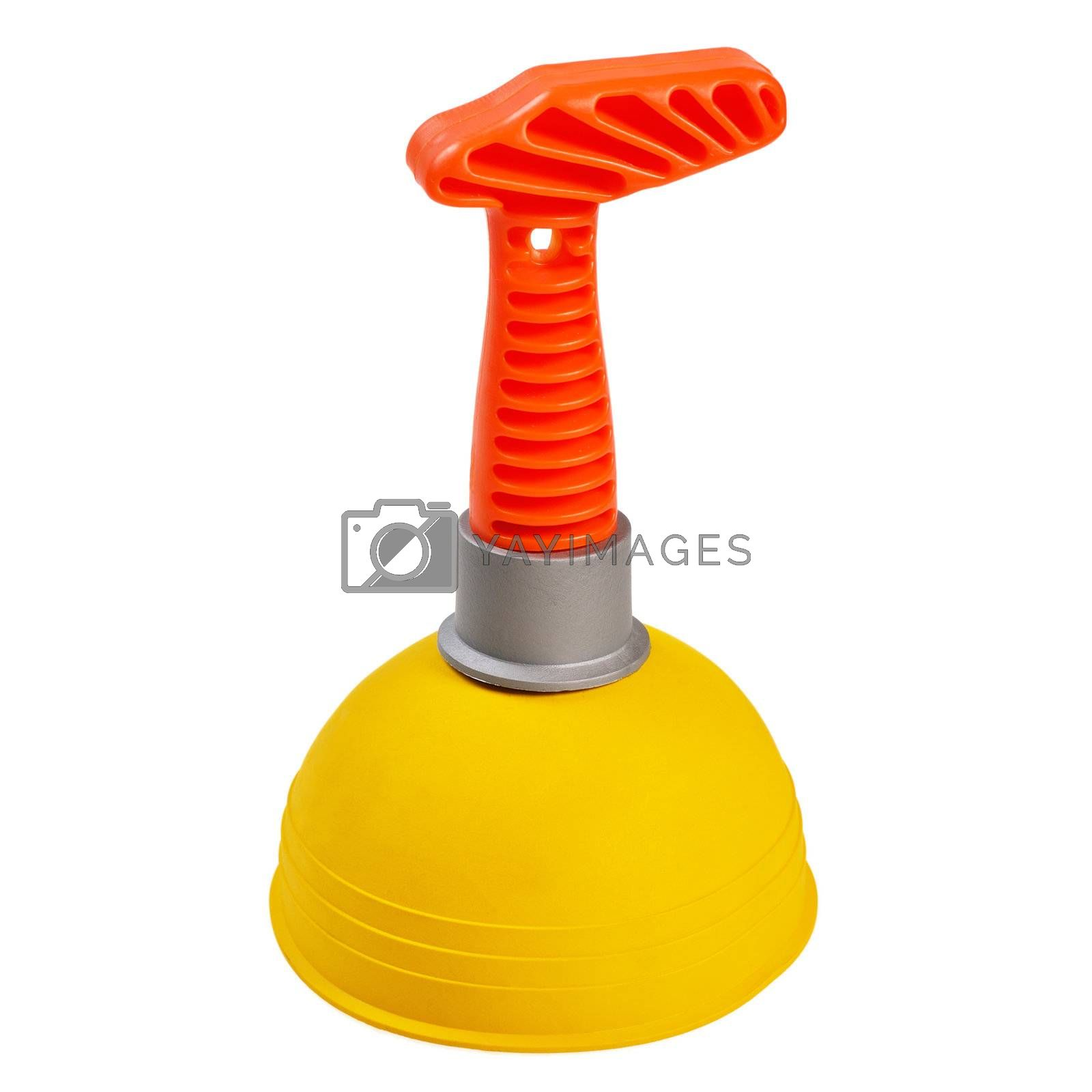 Plunger for the bathroom. Isolated on white background