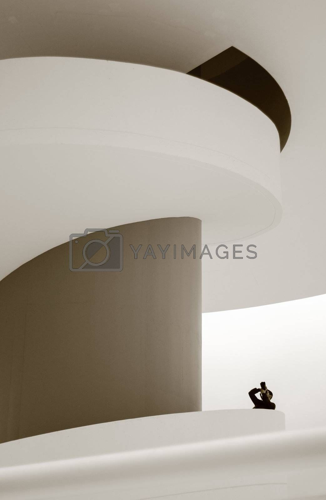 View of Niemeyer Center building, in Aviles, Spain, on April 10, 2011. The cultural center was designed by Brazilian architect Oscar Niemeyer, and was his only work in Spain