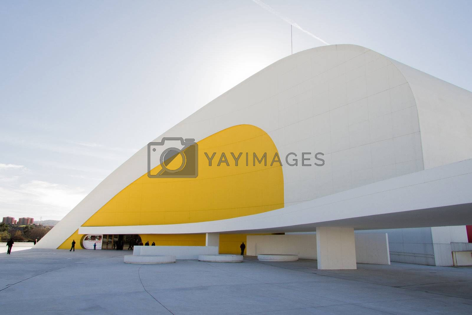 View of Niemeyer Center building, in Aviles, Spain, on December 09, 2012. The cultural center was designed by Brazilian architect Oscar Niemeyer, and was his only work in Spain