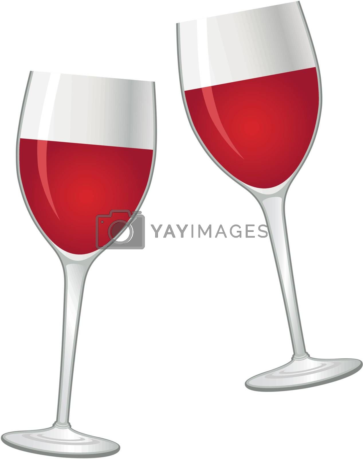 Image of two glasses of red wine.