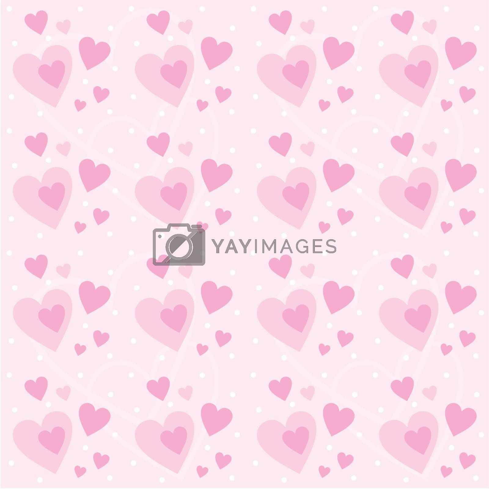 Image of Seamless pattern with hearts for Valentine's Day holiday.