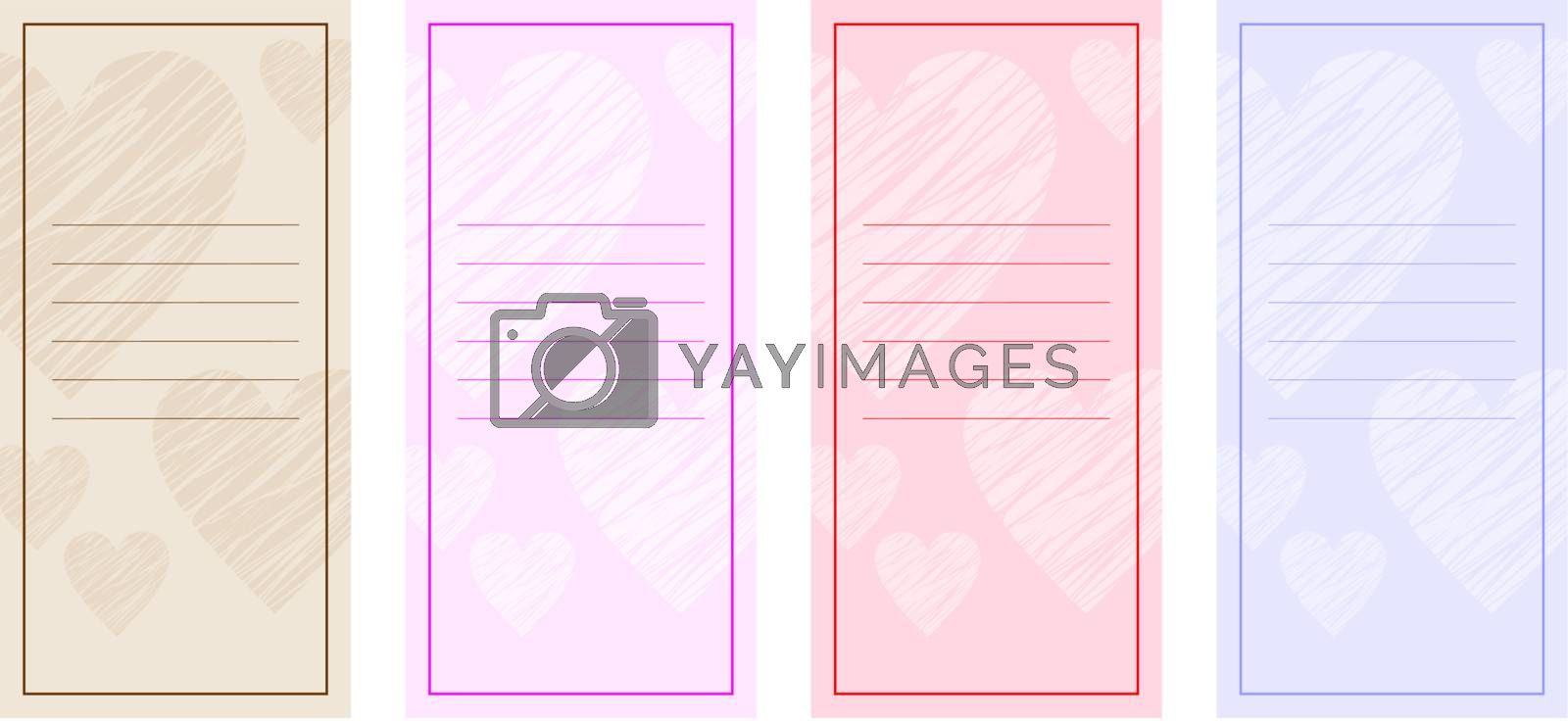 Image forms for greeting cards and text.