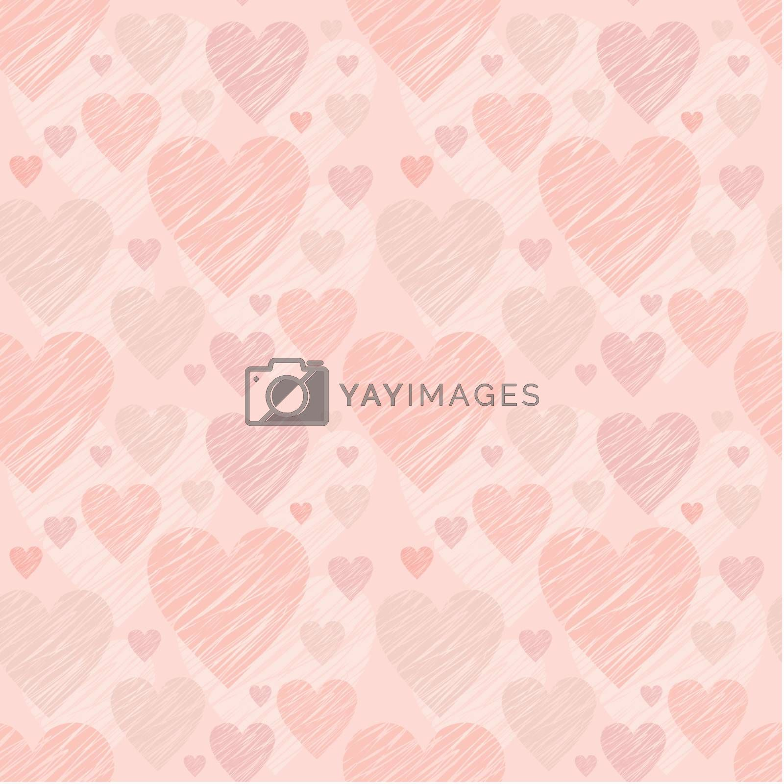 Image of Seamless pattern with hearts.