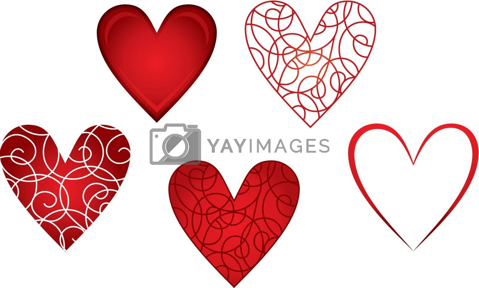 Image Hearts Greeting Card for Valentines Day.
