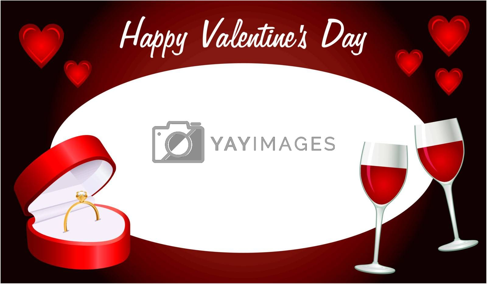 Image of greeting card for Valentines Day.