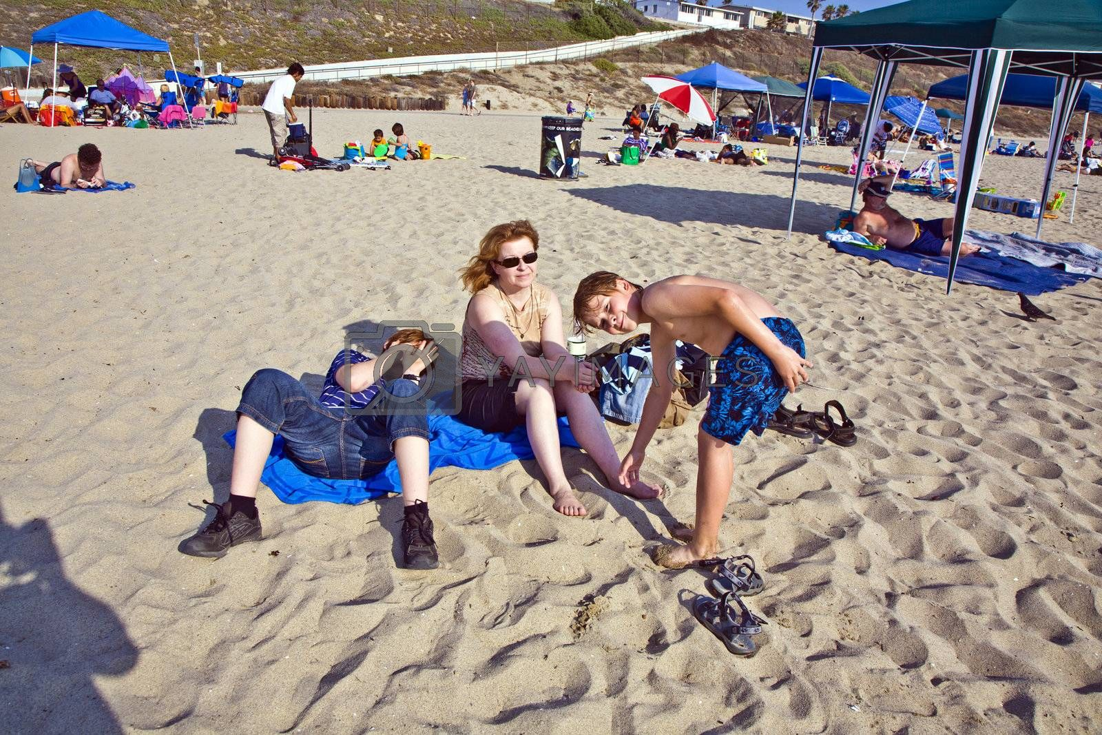 REDONDO BEACH, USA - JULY 7: people enjoy the beach on July 7,2008 in Redondo Beach, USA. Redondo Beach was originally part of the 1785 Rancho San Pedro Spanish land grant that later became the South Redondo area.