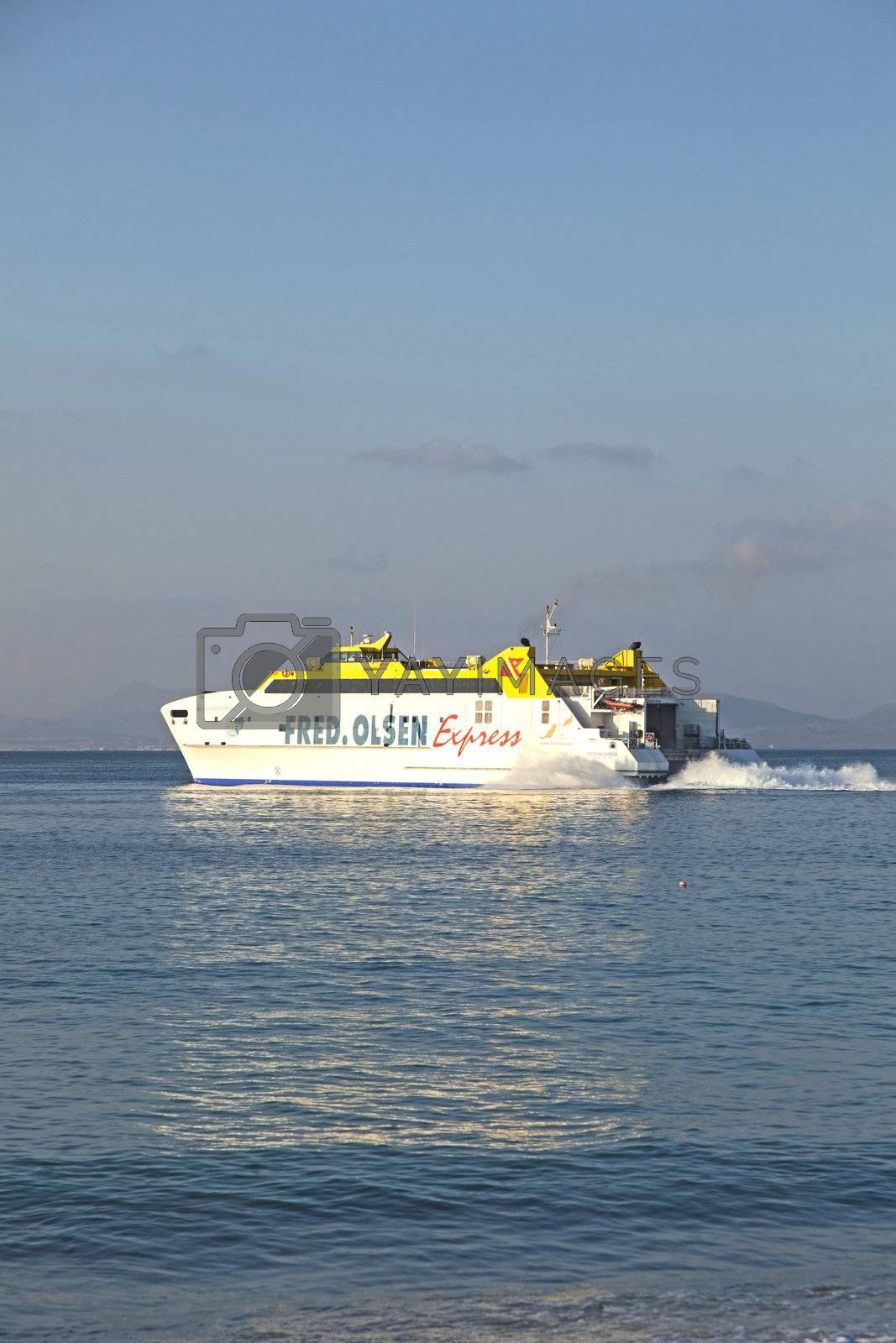 ferry Bocayna Express from Fred Olsen on the ocean by meinzahn