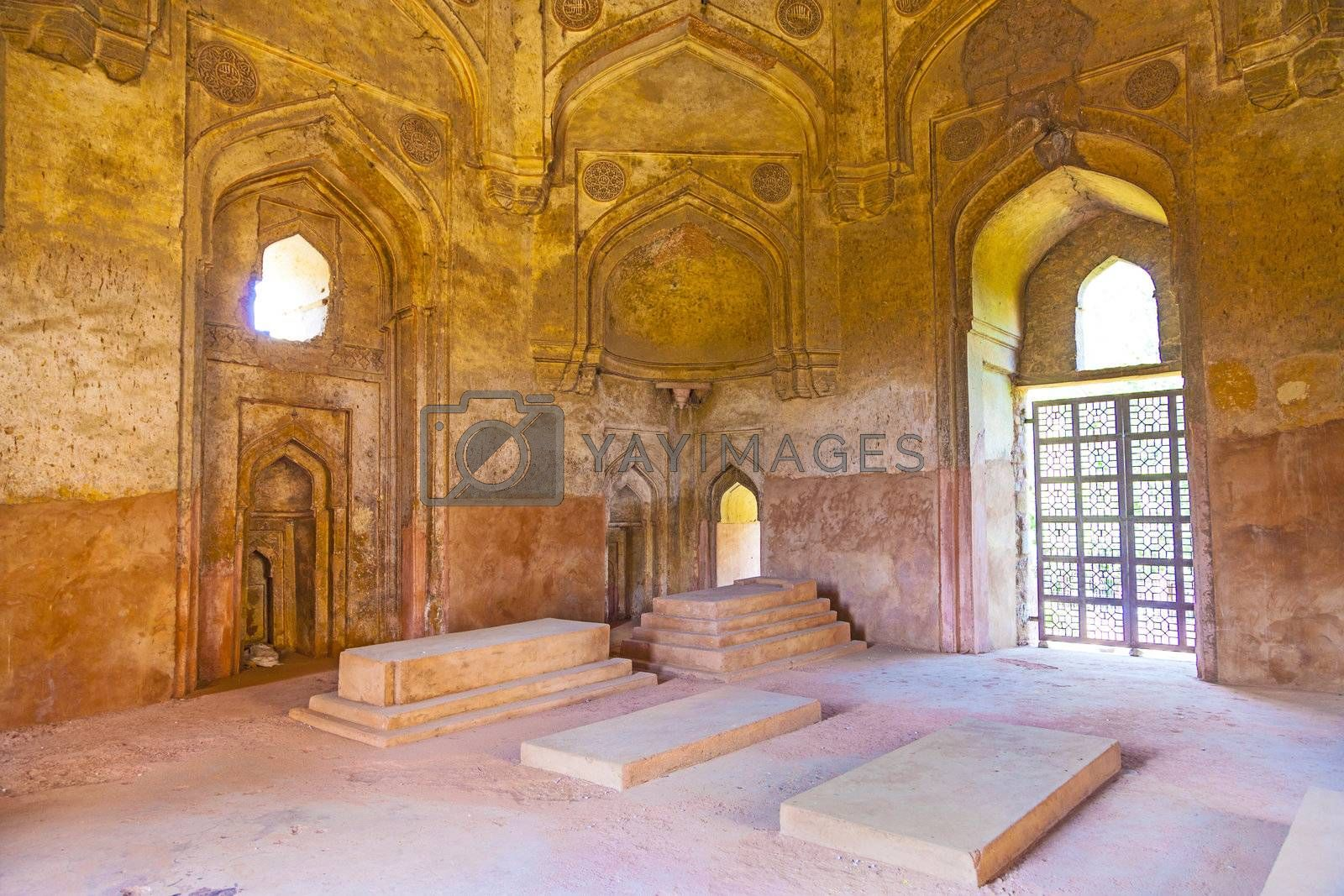Dadi potis tomb in Lodi Garden from inside in Delhi