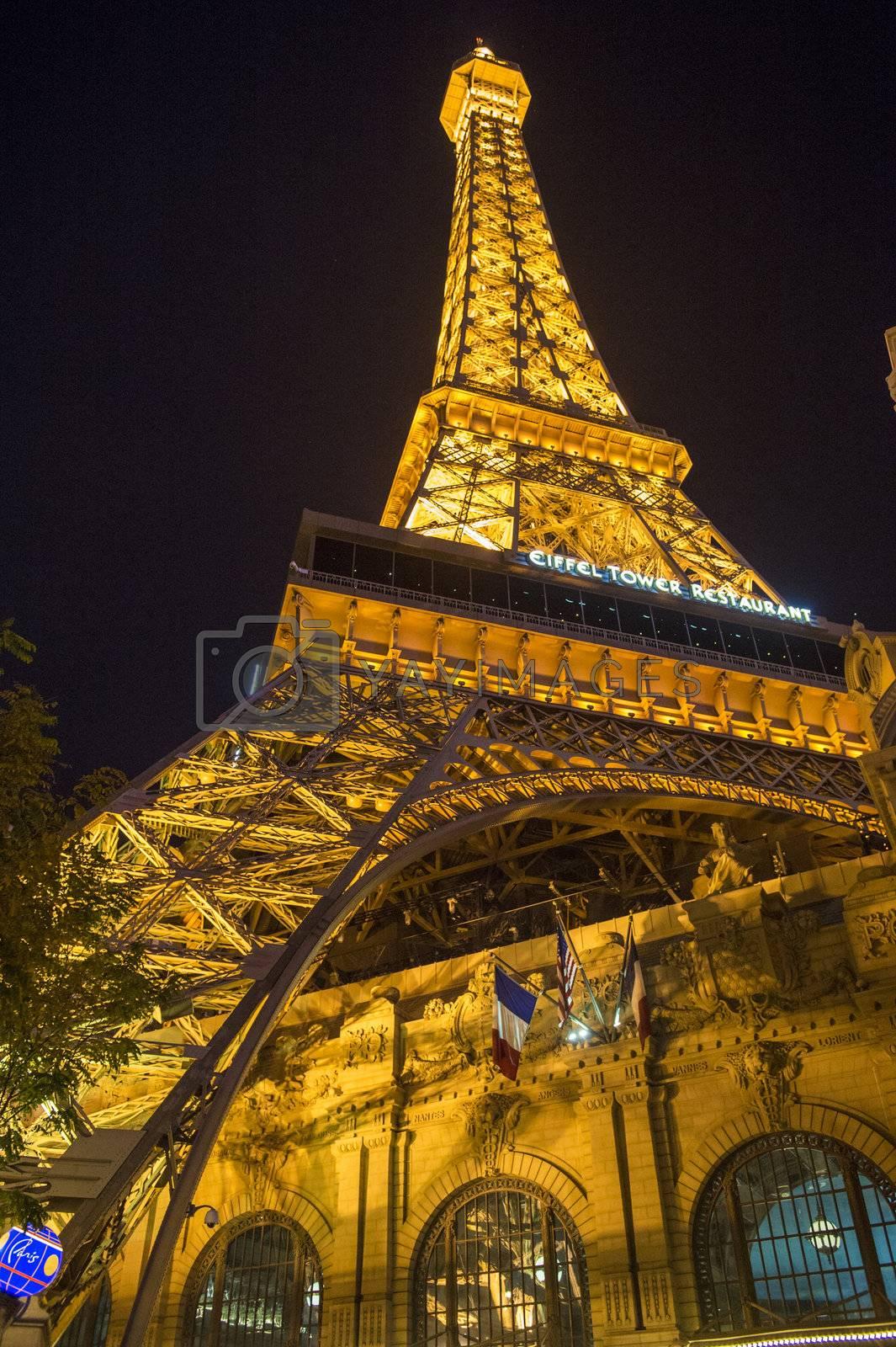 LAS VEGAS - NOVEMBER 08: The Paris Las Vegas hotel and casino on November 08, 2012 in Las Vegas. Las Vegas in 2012 is projected to break the all-time visitor volume record of 39-plus million visitors
