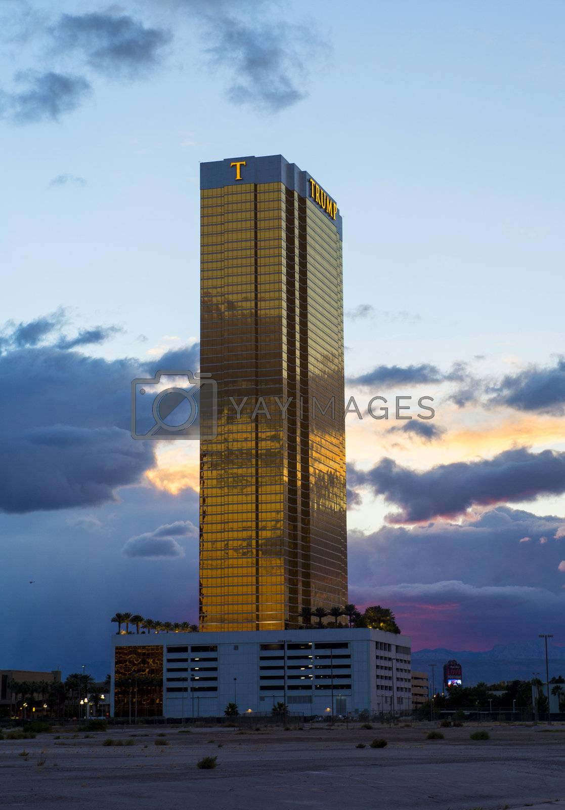 LAS VEGAS - NOVEMBER 08: Hotel Trump on November 08, 2012 in Las Vegas. Las Vegas in 2012 is projected to break the all-time visitor volume record of 39-plus million visitors