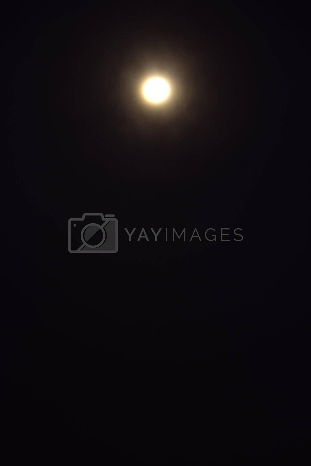 full moon in the midnight