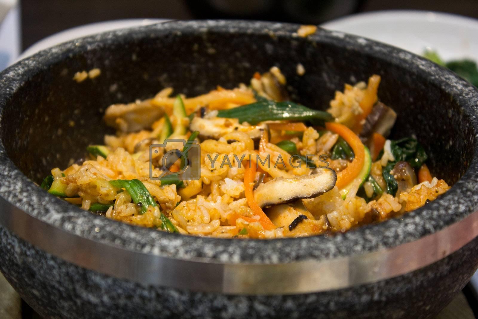 bibimbap in the korean restaurant