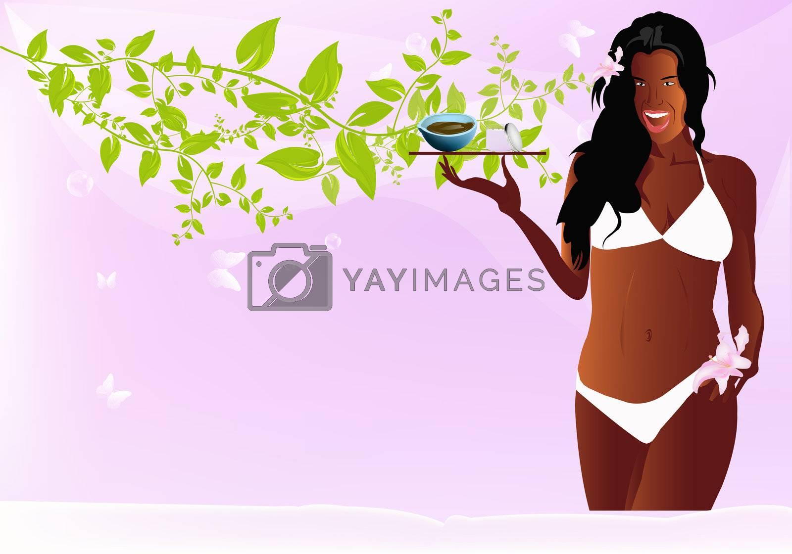 Body care. Spa concept. Exotic massage