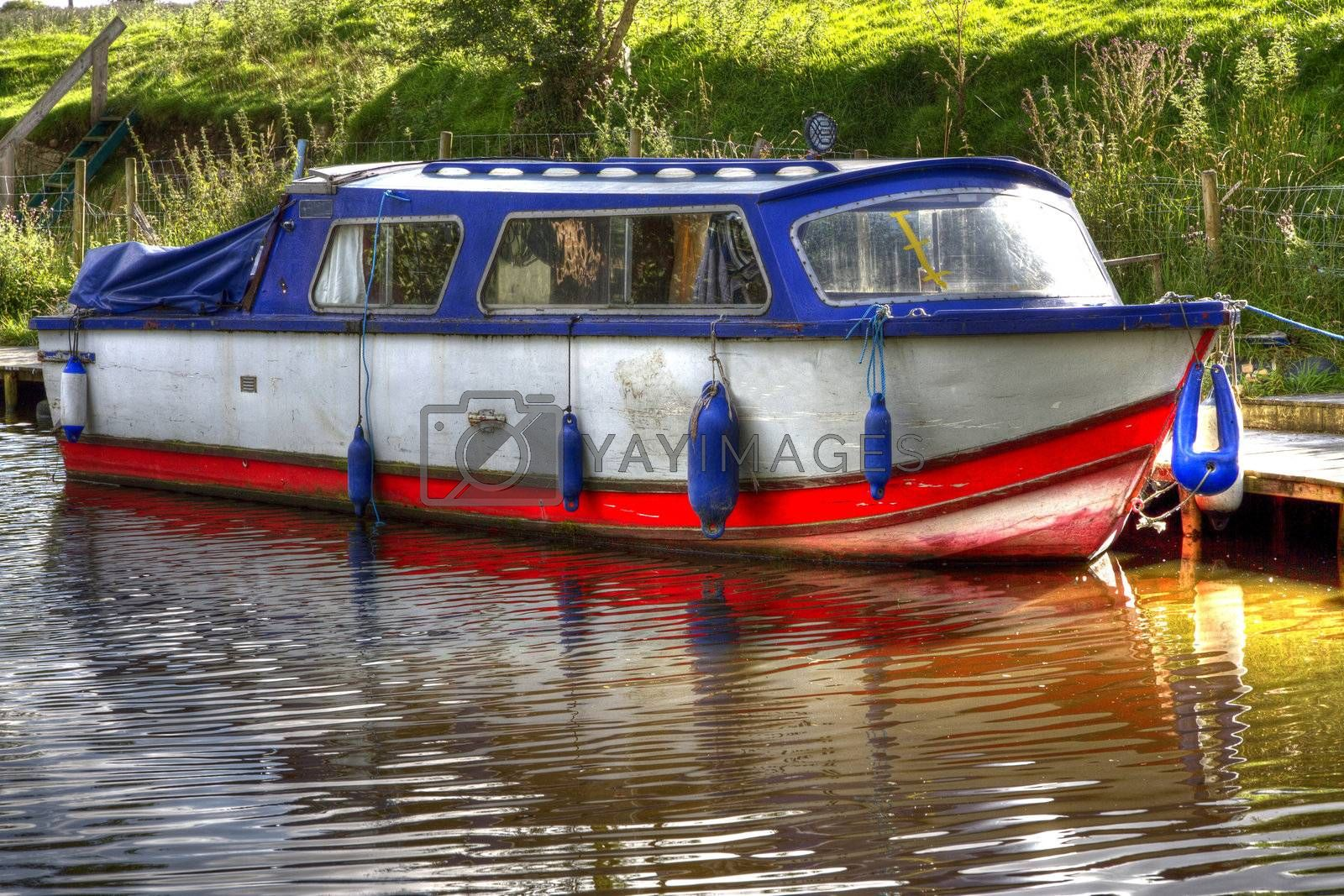 Boat on the Canal somewhere in North Lancashire, UK