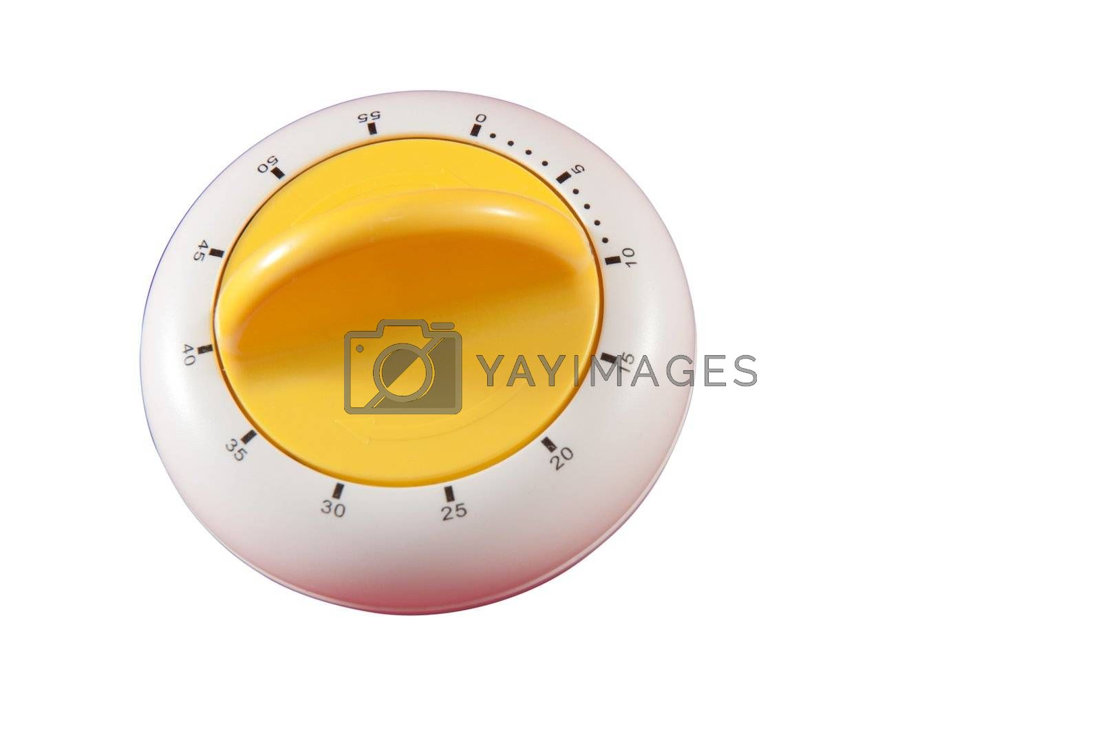 Timer isolated on white background with clipping path