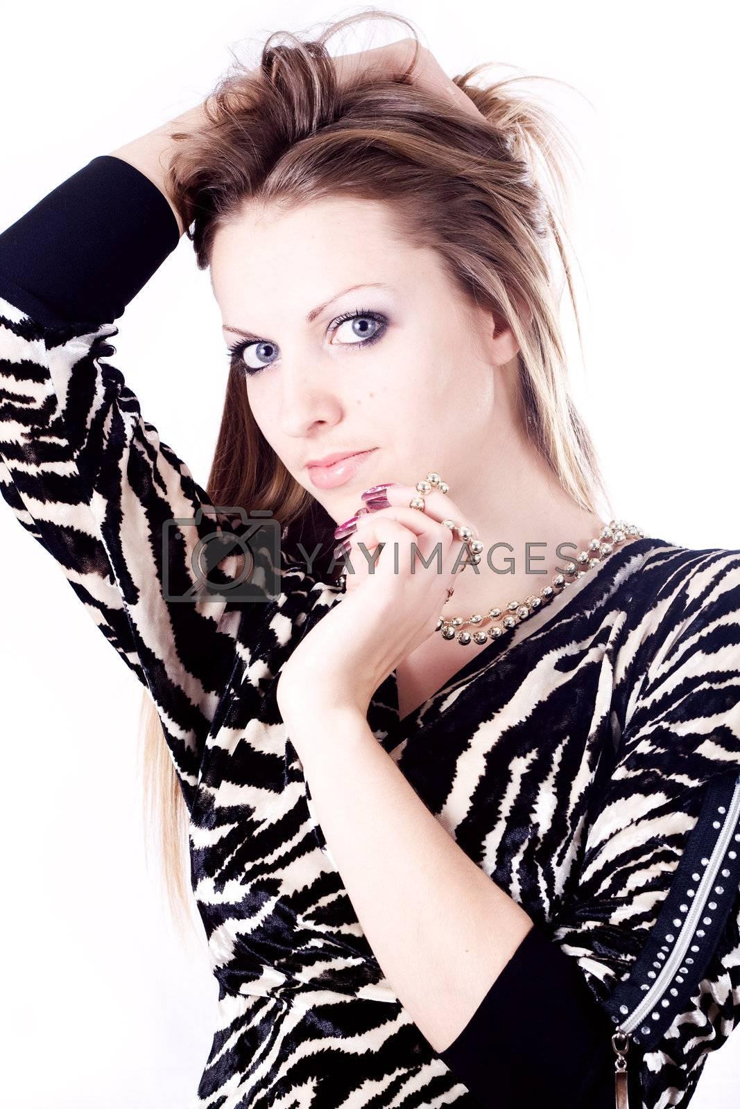 Beautiful girl isolated on white background