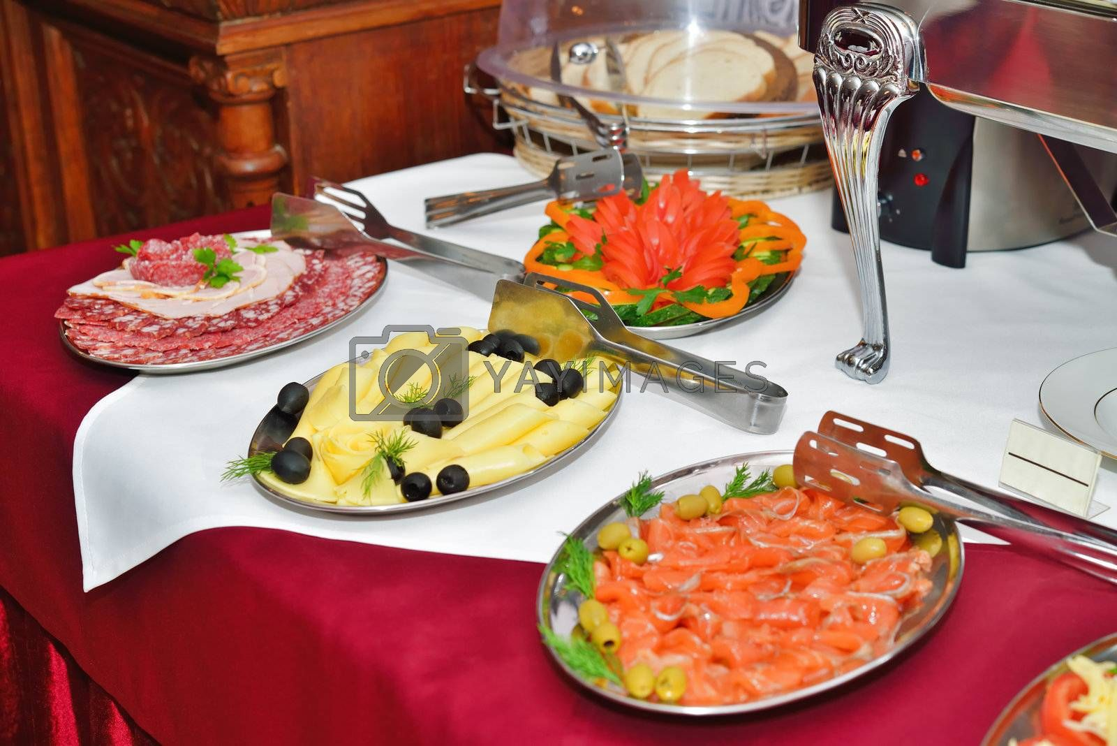 Royalty free image of Breakfast at the hotel. Breakfast Buffet. by grauvision