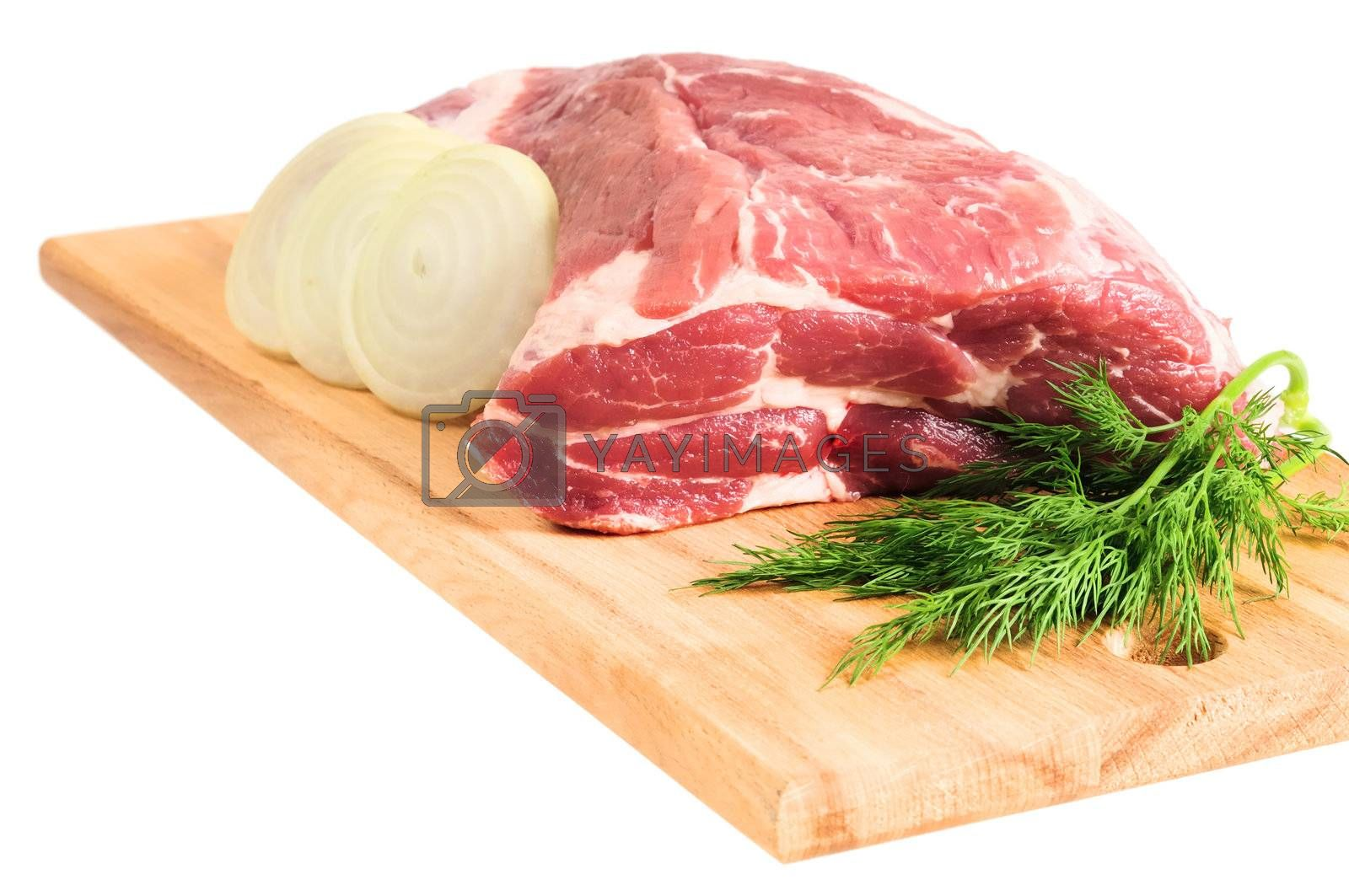 Royalty free image of Piece of pork for roasting by grauvision
