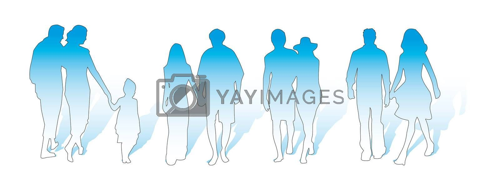 couples with a child raised with a shadow