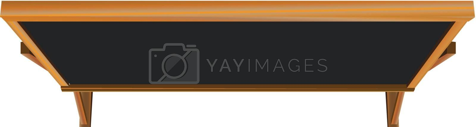 Old-fashioned chalk board in a general education course. Vector illustration.