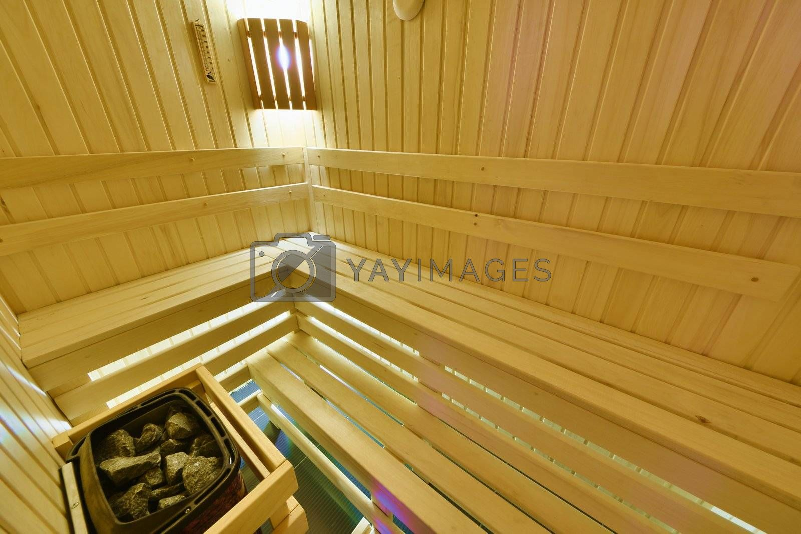 Royalty free image of Finnish sauna by grauvision