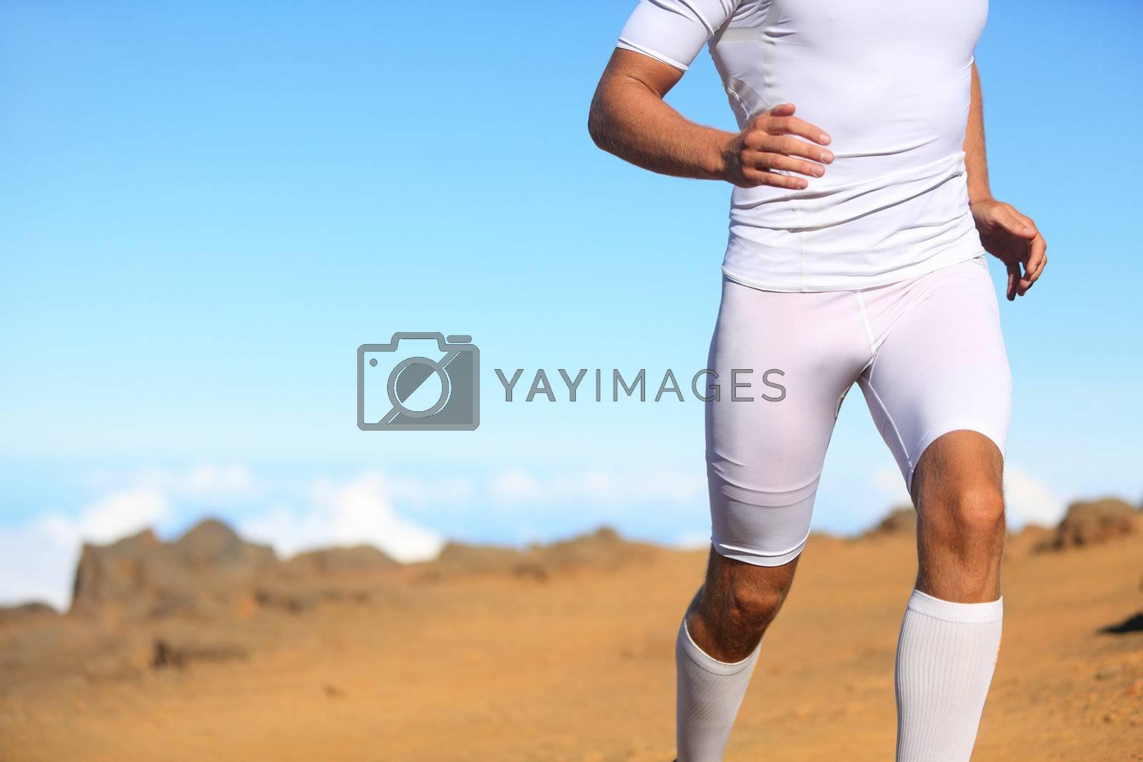 Sport fitness runner running by Maridav
