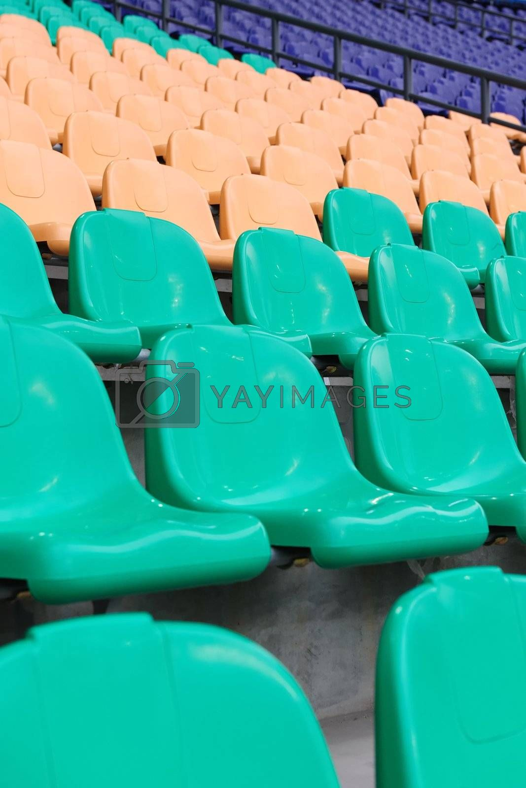 Chairs in the sports stadium