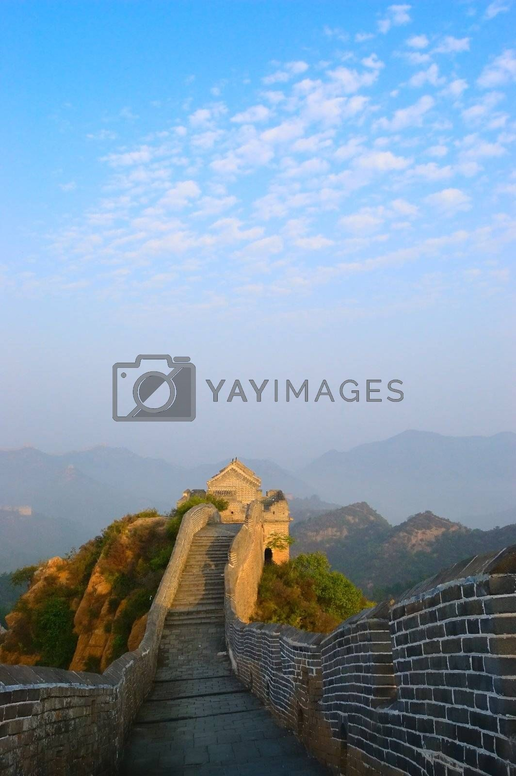 Great Wall of China built in the Ming Dynasty in Jinshanling, Hebei province, China