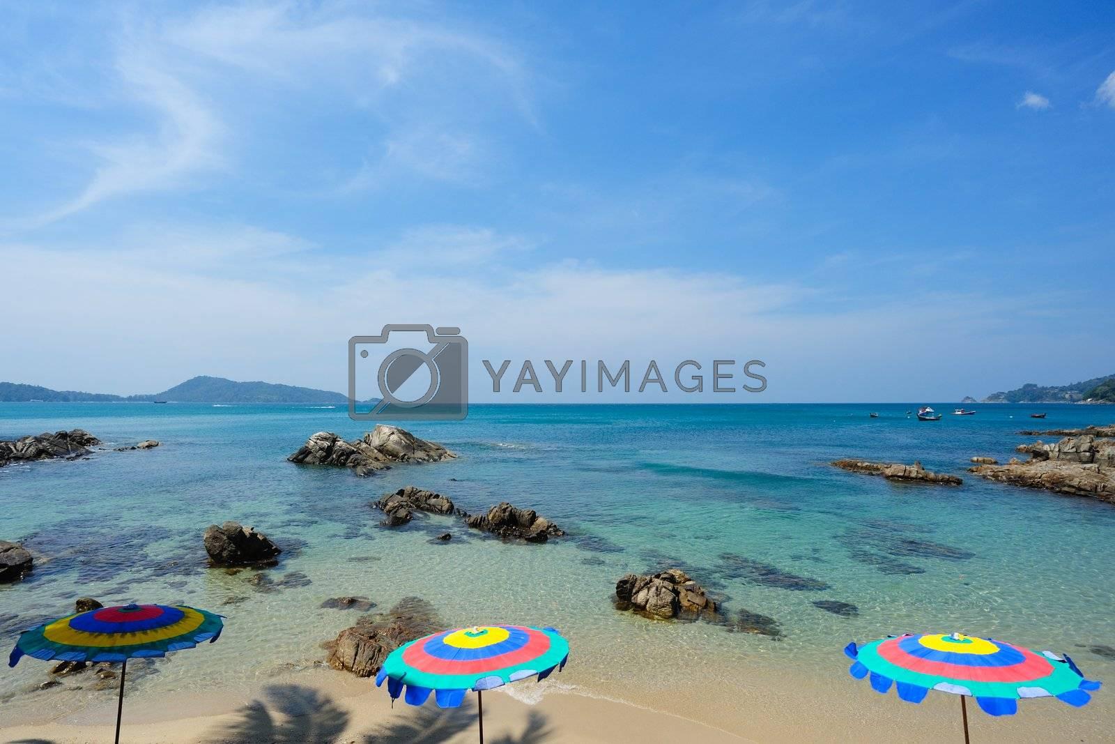 Beach landscape in Phuket Island, Thailand